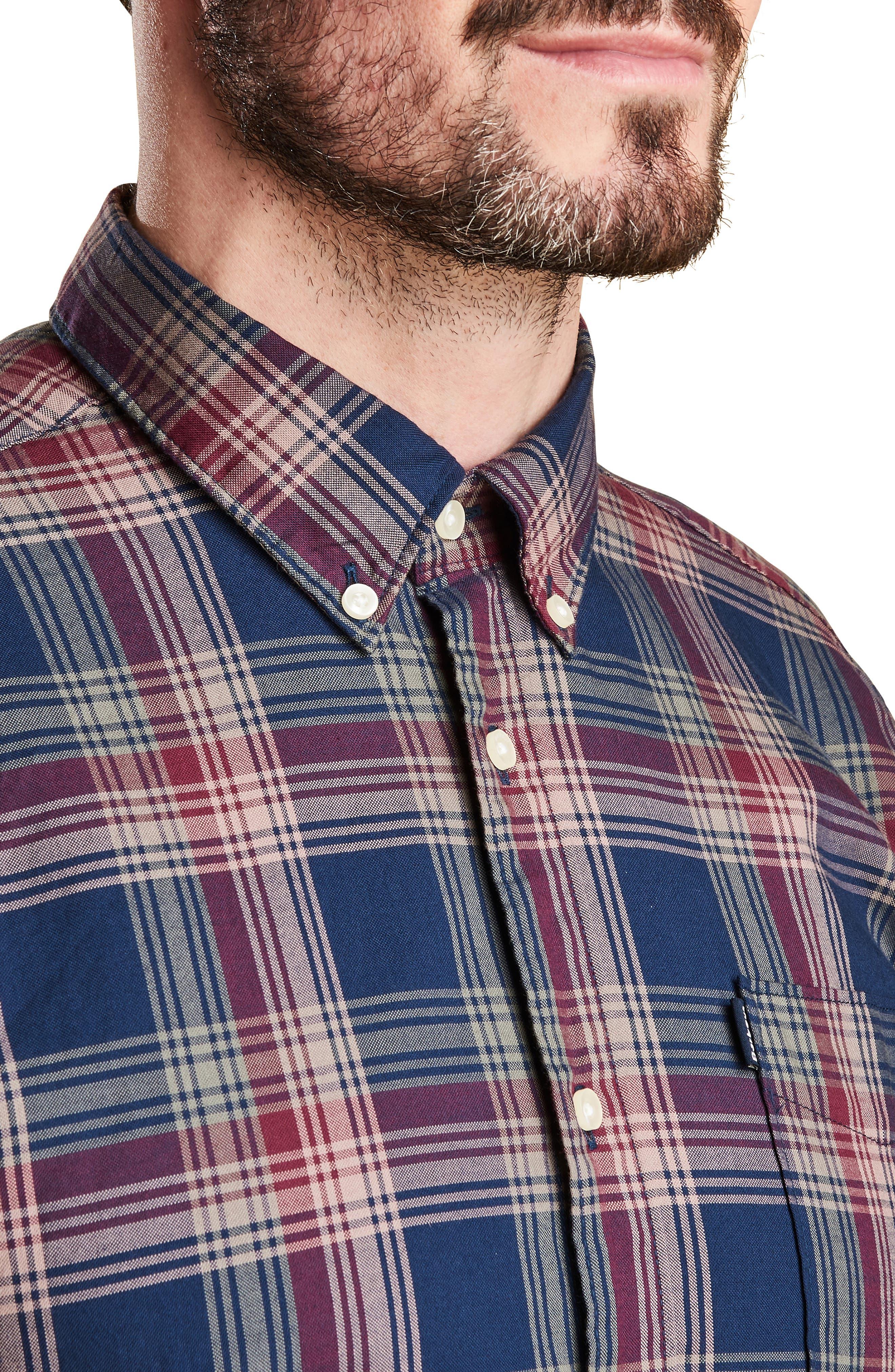 Endsleigh Highland Check Woven Shirt,                             Alternate thumbnail 2, color,                             NAVY