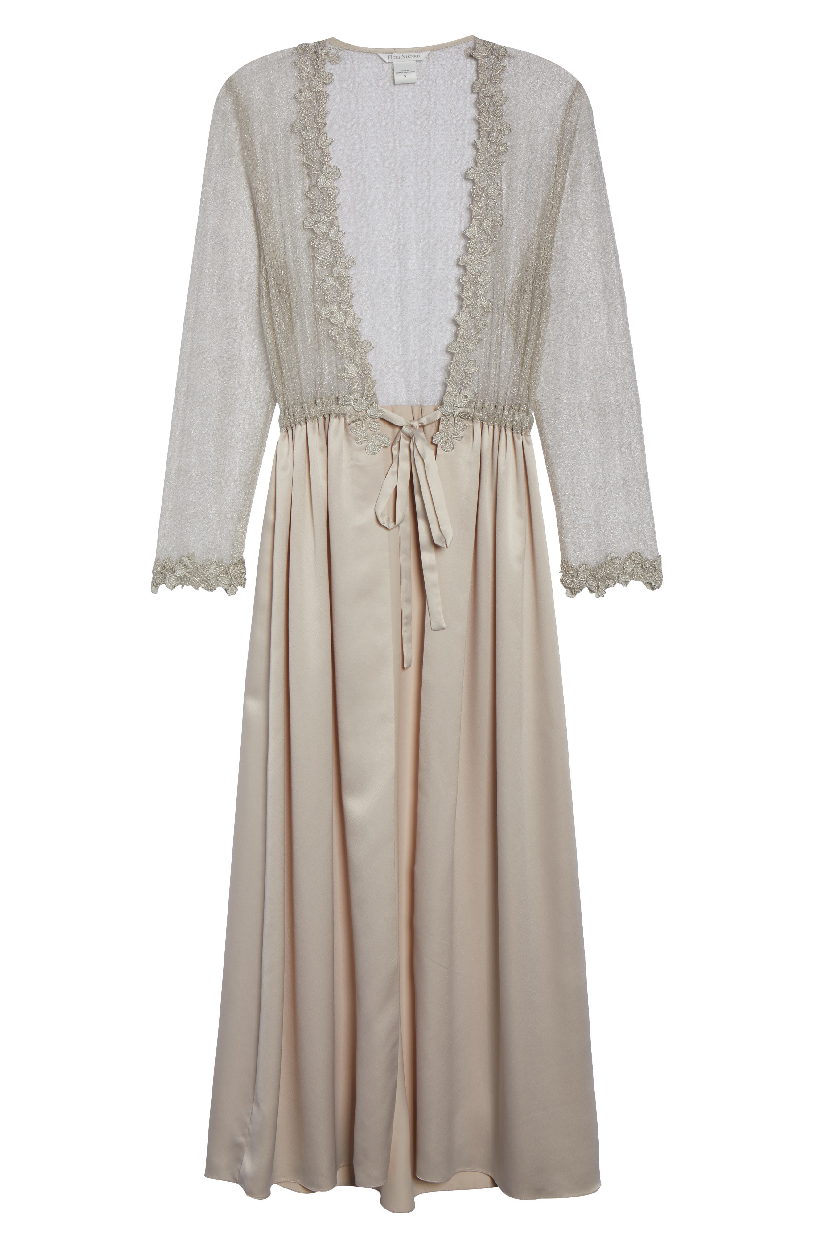 Showstopper Robe,                             Alternate thumbnail 6, color,                             CHAMPAGNE