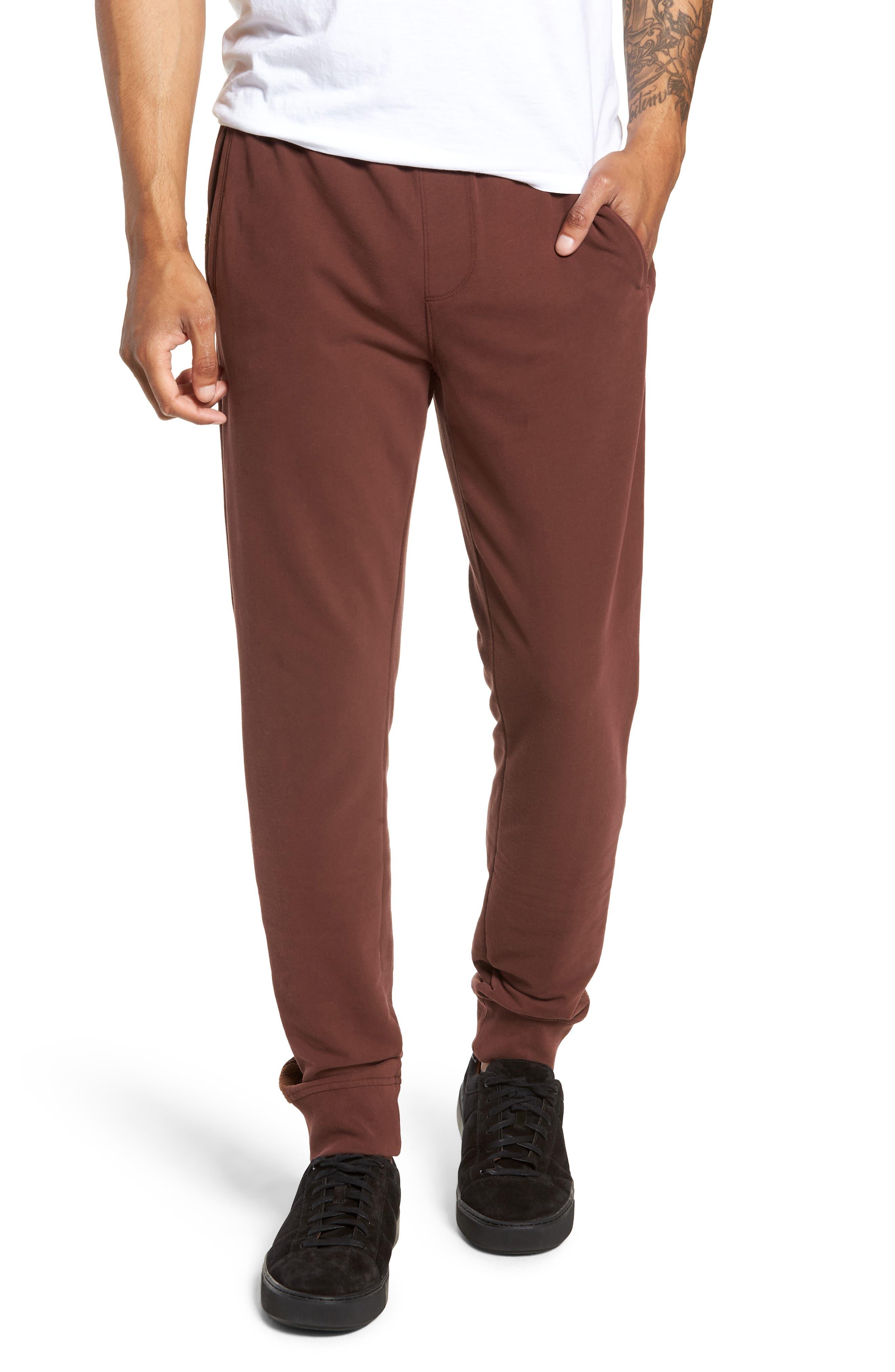 Slim Fit Sweatpants,                             Main thumbnail 1, color,                             WINE