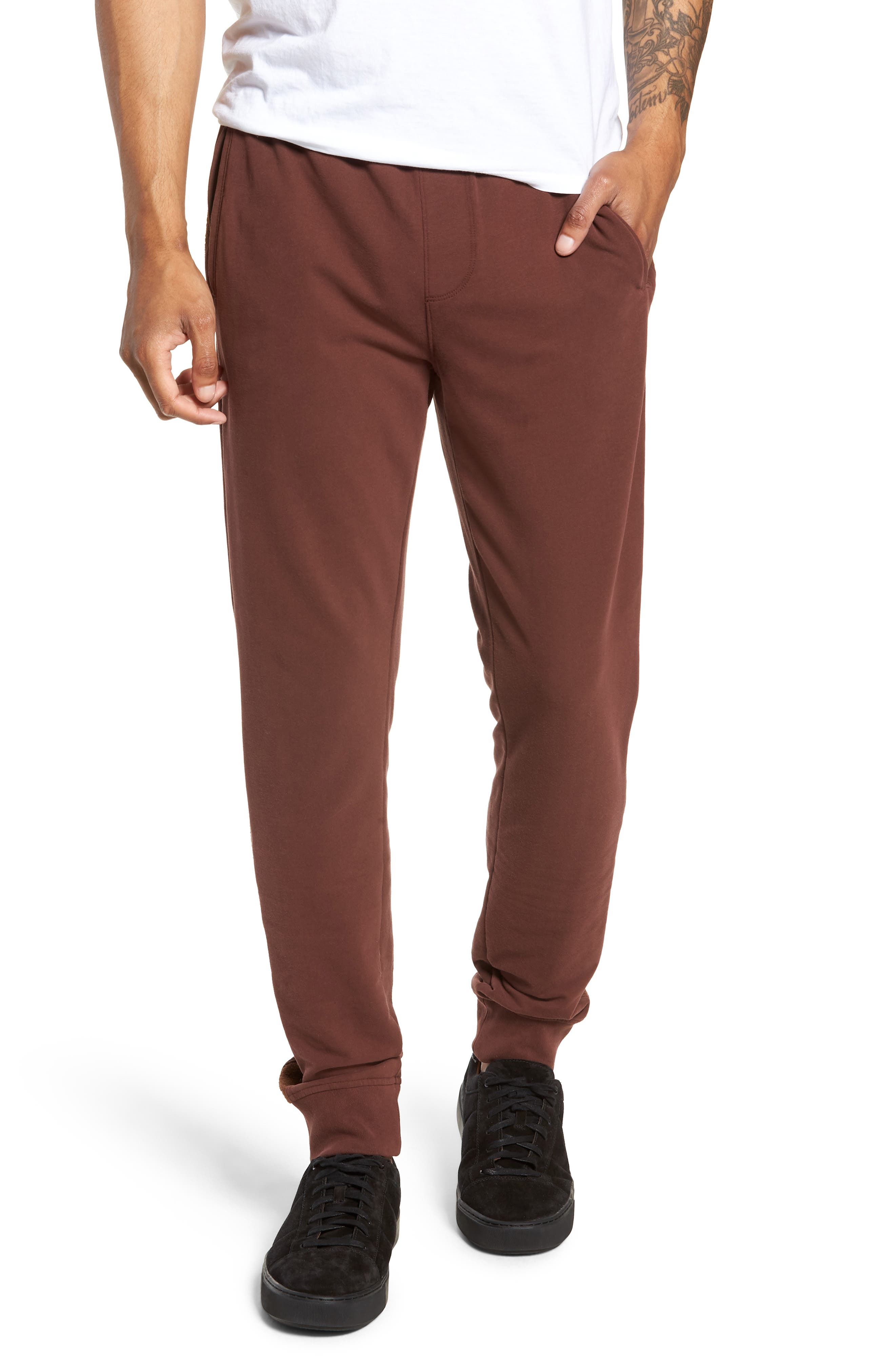 Slim Fit Sweatpants,                         Main,                         color, WINE