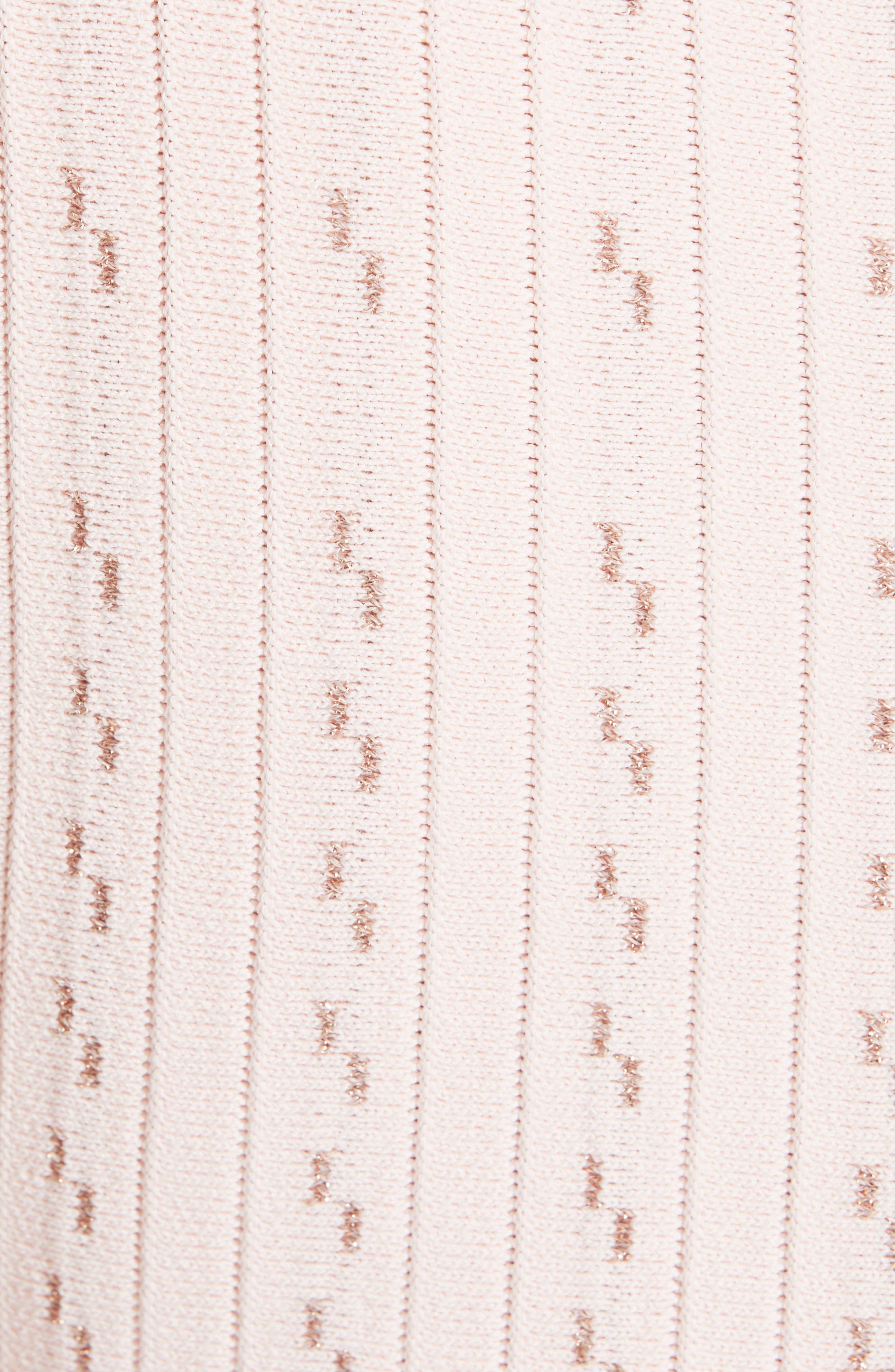 Vellia Flippy Knit Skater Dress,                             Alternate thumbnail 6, color,                             PALE PINK