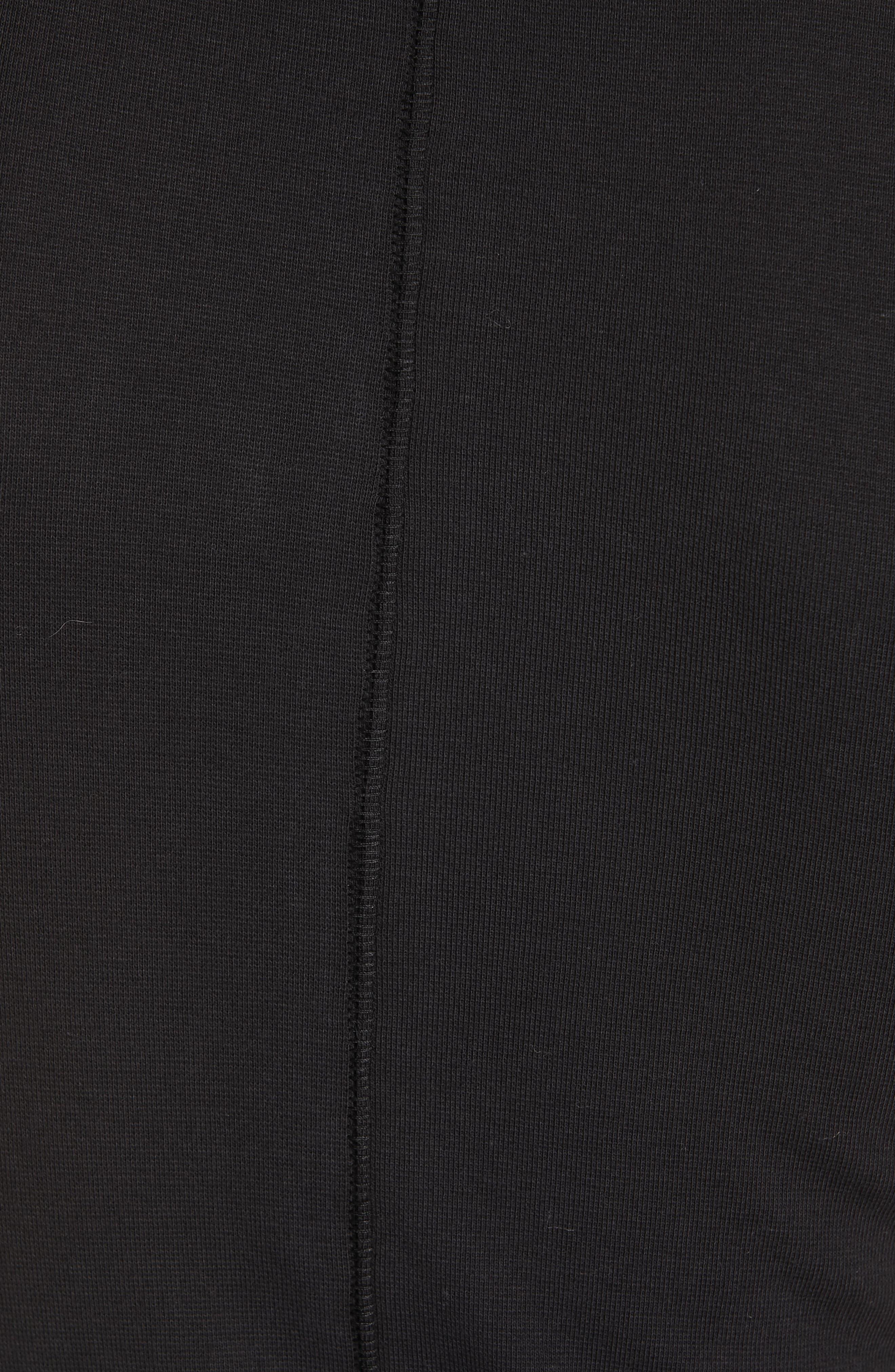 Sunshine Cowl Neck Stretch Cotton Tee,                             Alternate thumbnail 5, color,                             BLACK