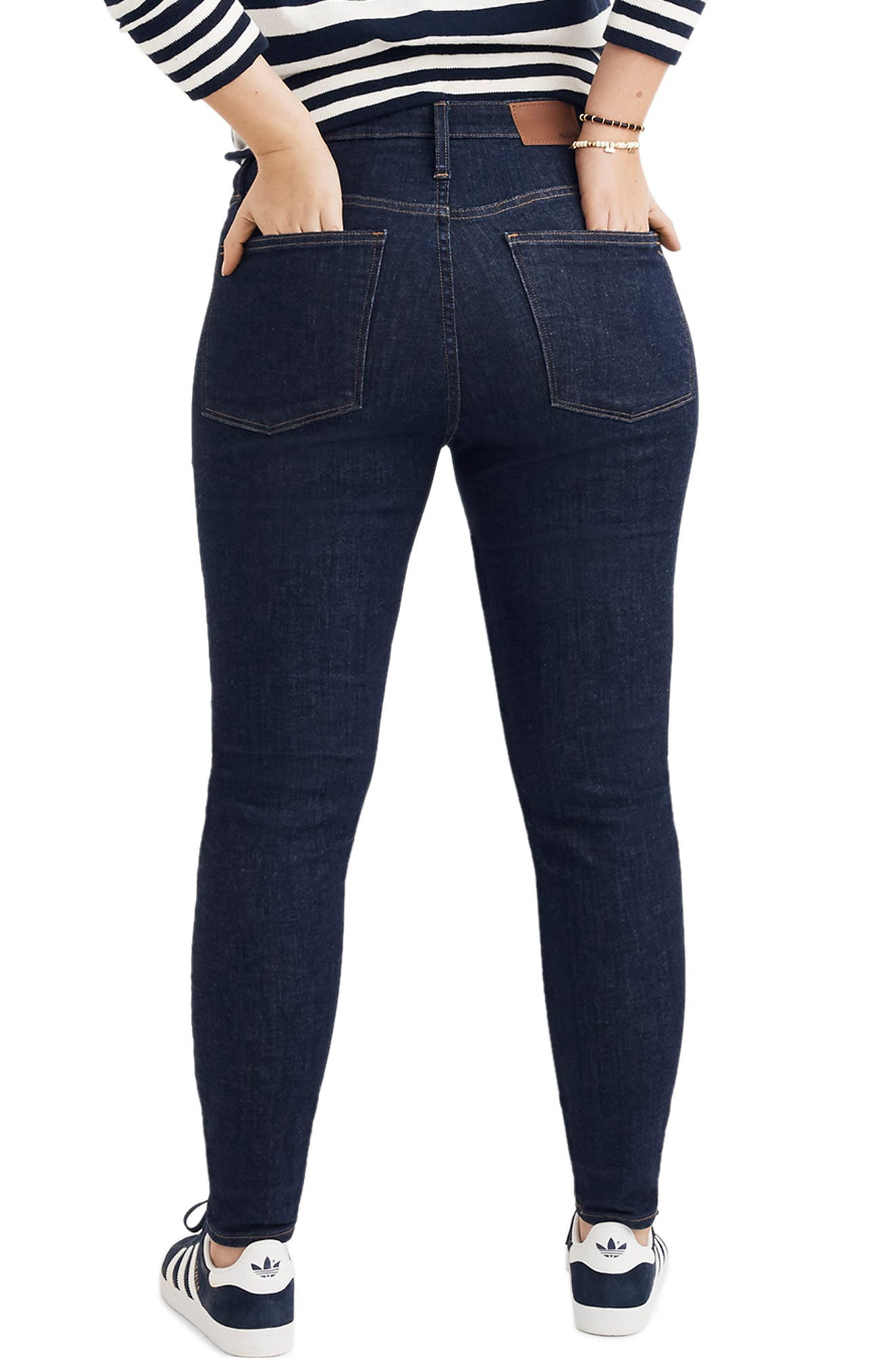 Curvy High Waist Skinny Jeans,                             Alternate thumbnail 8, color,                             LUCILLE WASH