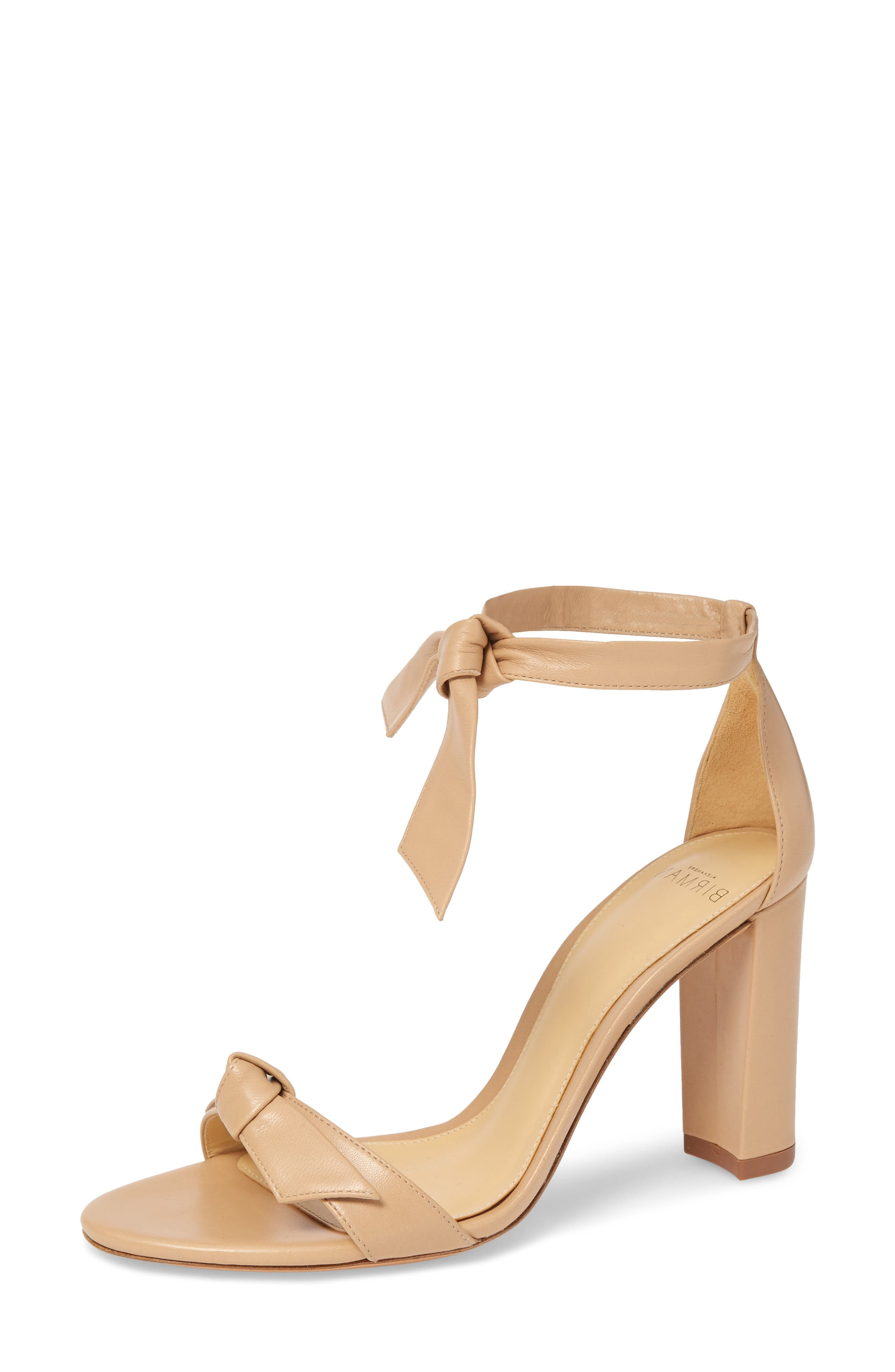 Clarita Knotted Sandal,                         Main,                         color, NUDE LEATHER