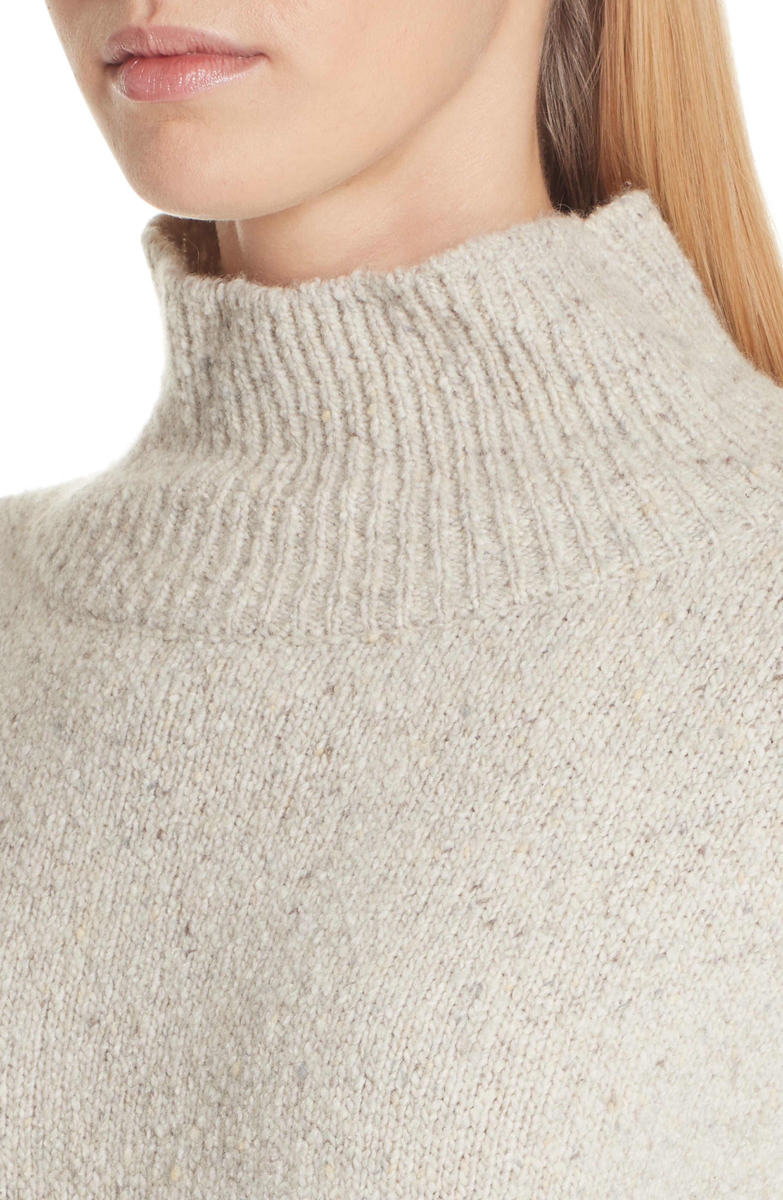 Oversize Cashmere Sweater,                             Alternate thumbnail 4, color,                             BUTTERMILK