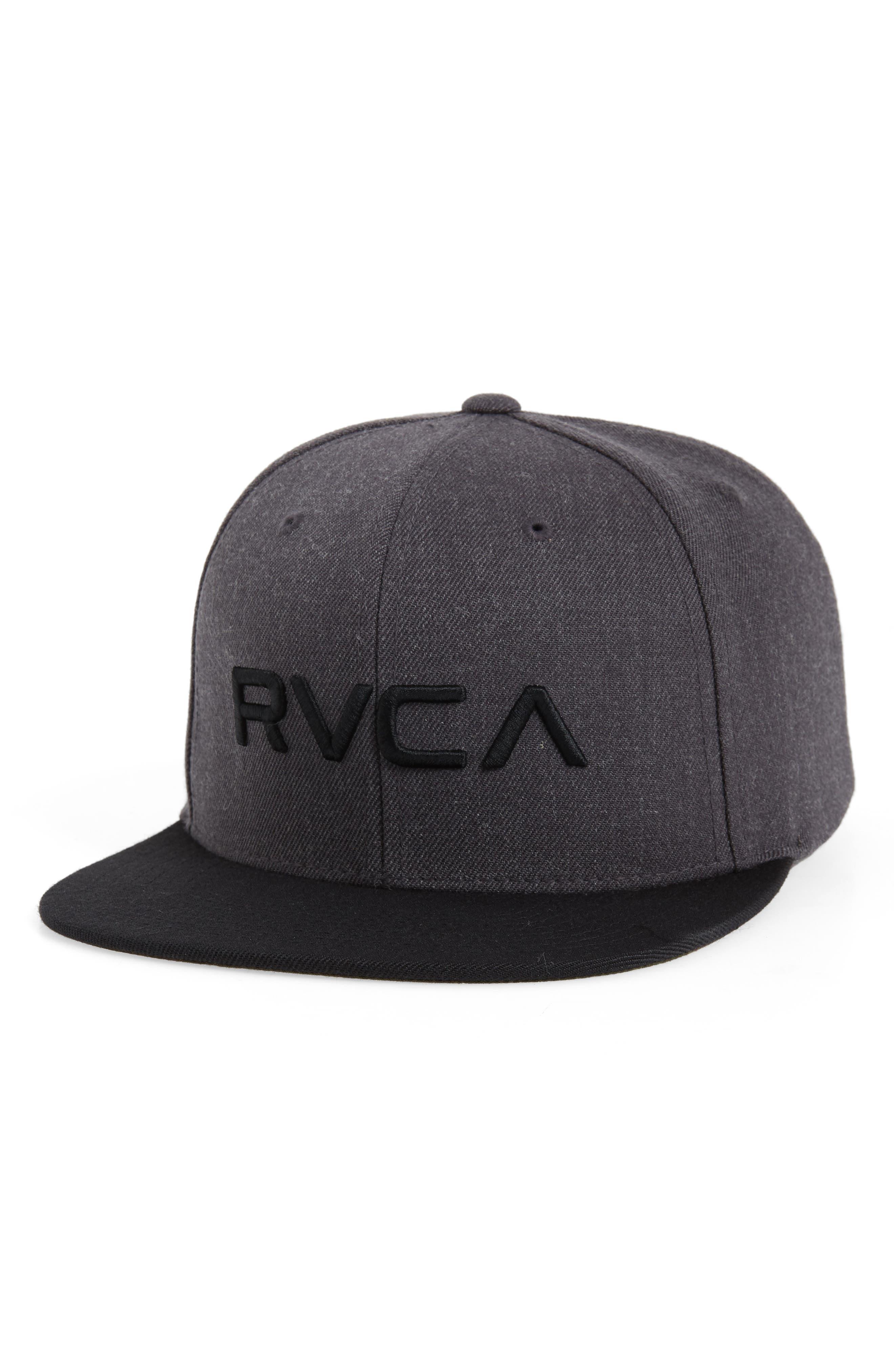 Twill Snapback Baseball Cap,                         Main,                         color, CHARCOAL HEATHER/BLACK