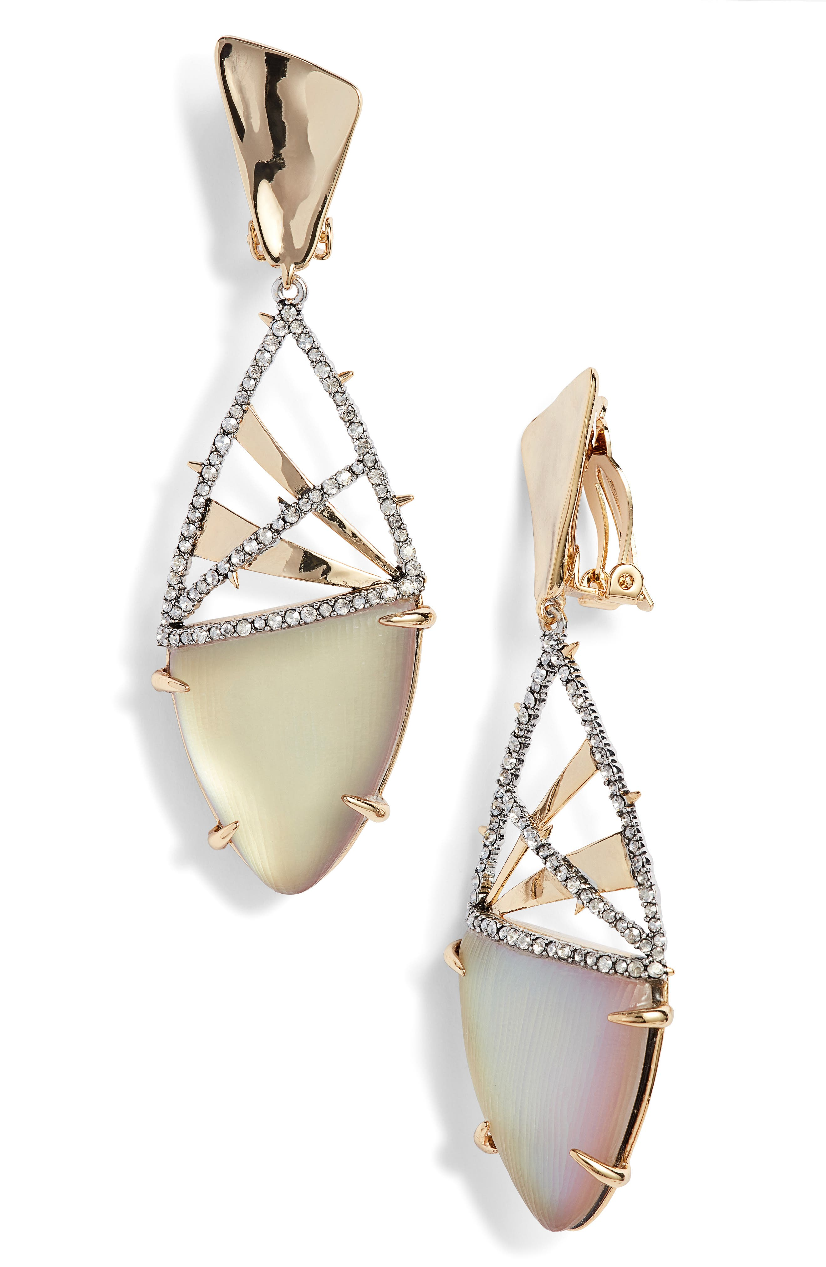 Crystal Crosshatch Lucite<sup>®</sup> Earrings,                         Main,                         color, 020