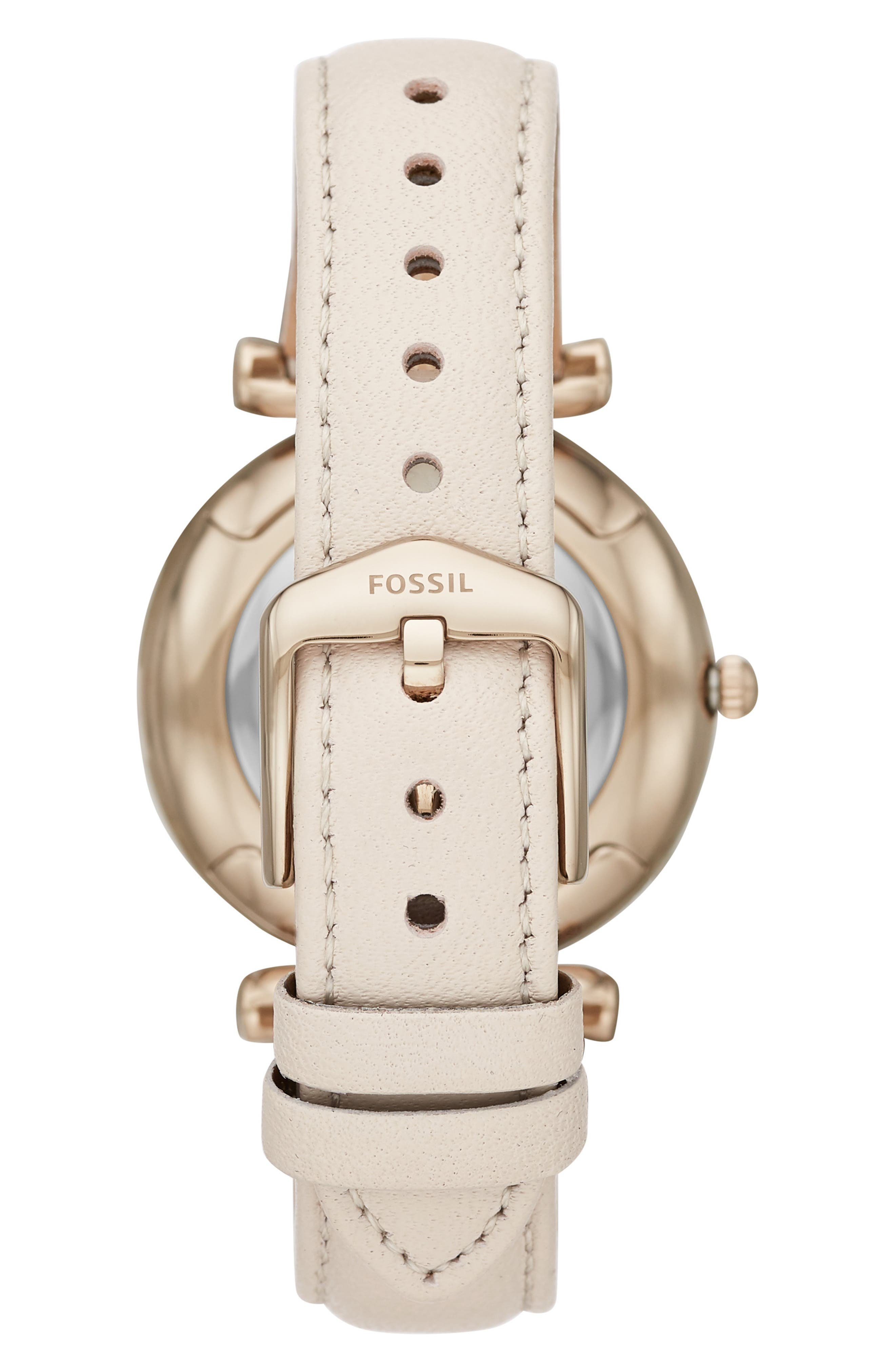 Carlie Leather Strap Watch, 35mm,                             Alternate thumbnail 2, color,                             100