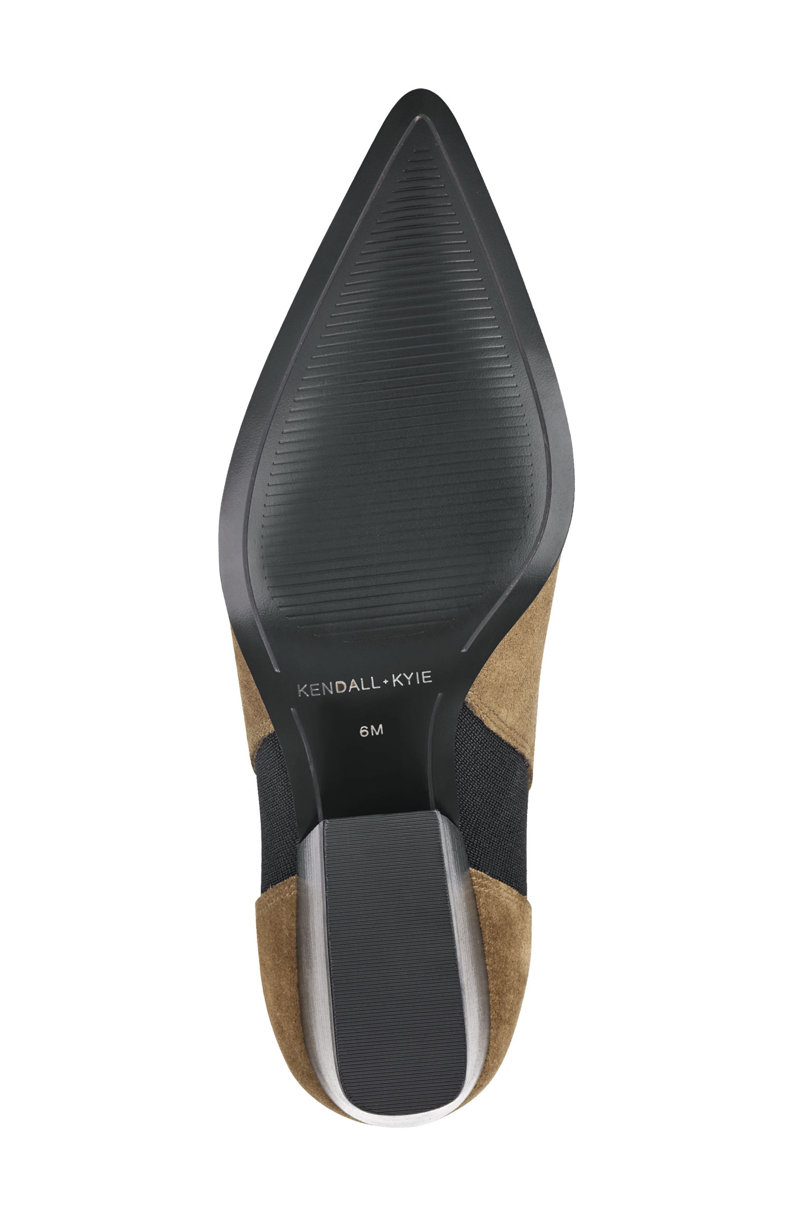 Pointy Toe Chelsea Bootie,                             Alternate thumbnail 6, color,                             TAUPE
