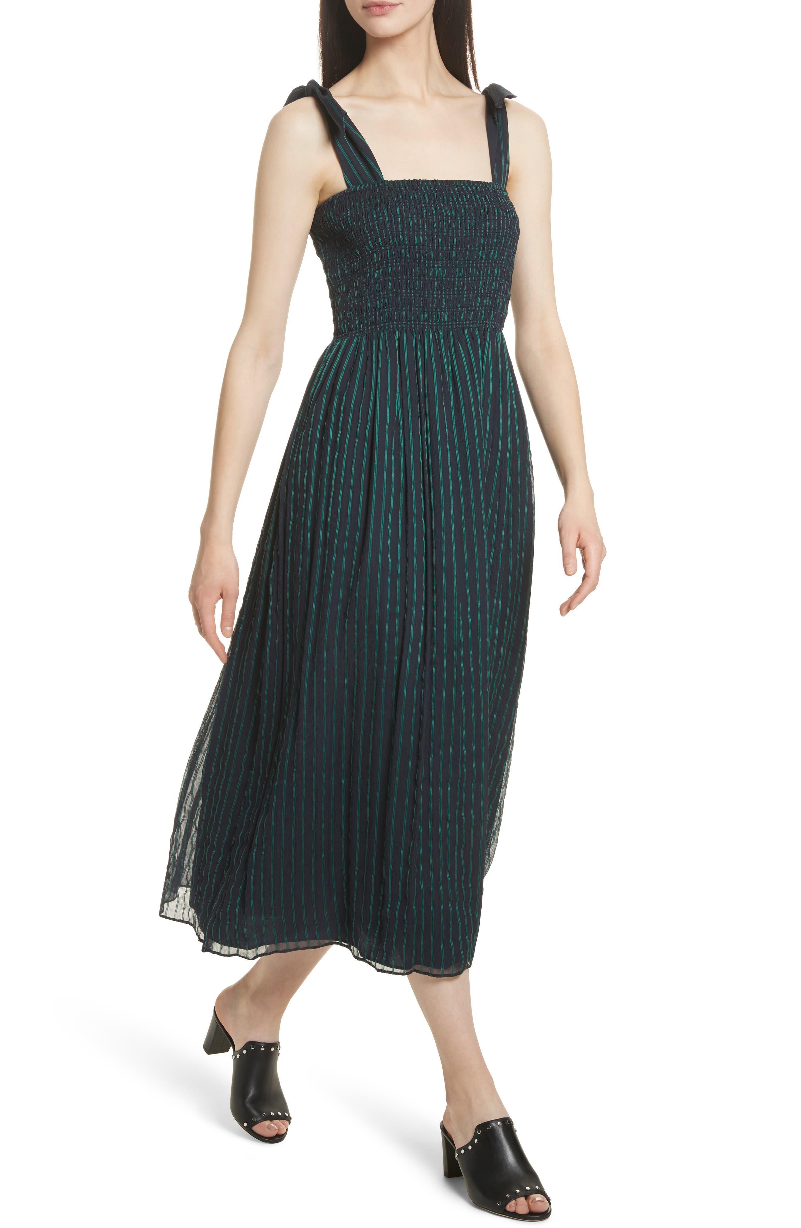 Stripe Chiffon Dress,                             Alternate thumbnail 4, color,                             470