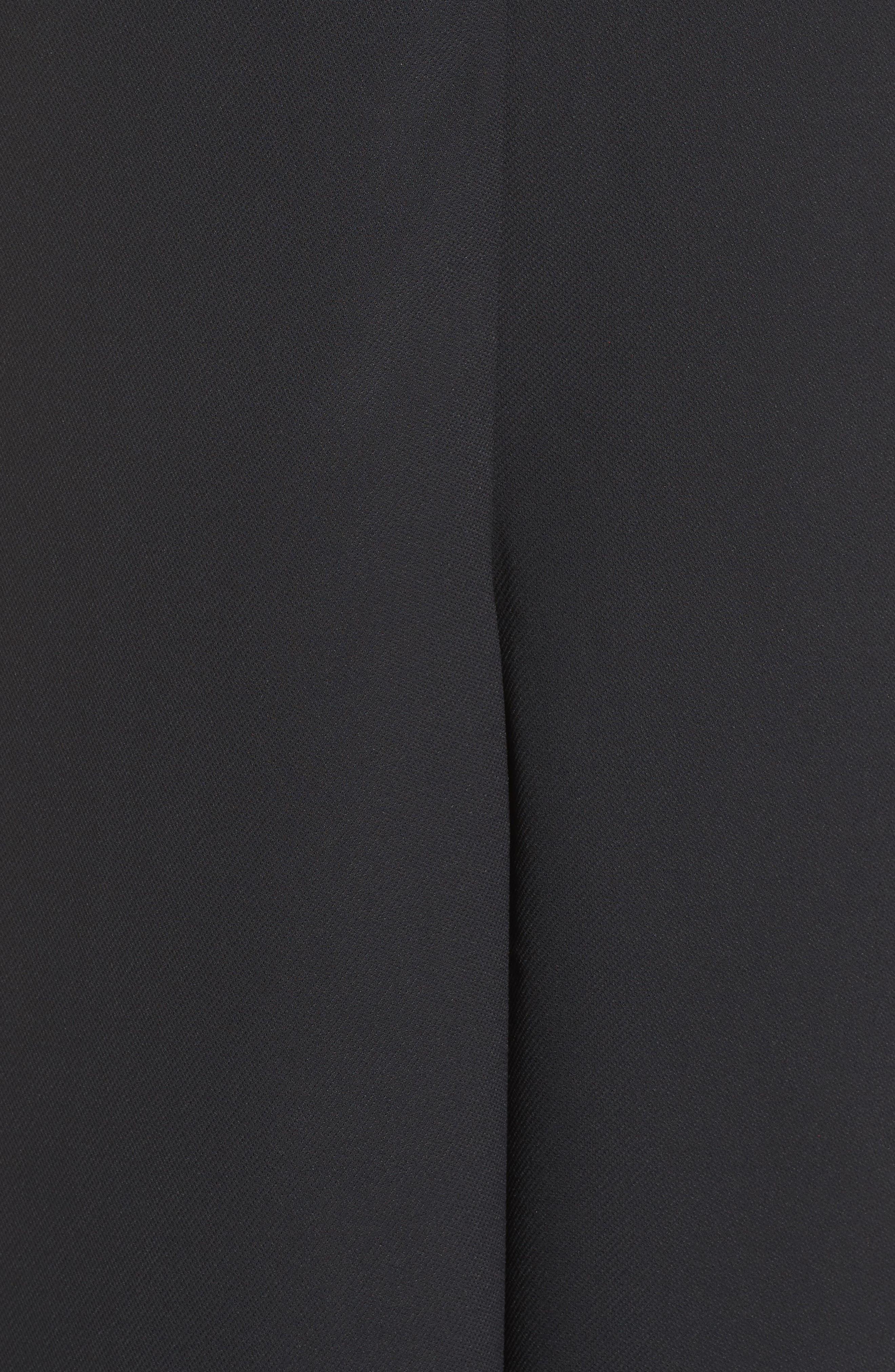'Arrow' Crepe Coulotte Jumpsuit,                             Alternate thumbnail 5, color,                             002