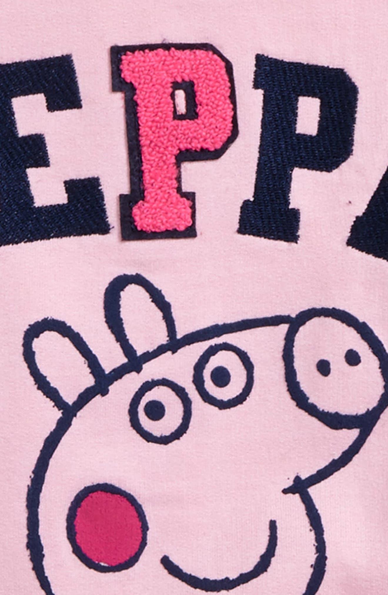 Peppa Pig Varsity Jacket,                             Alternate thumbnail 3, color,                             650