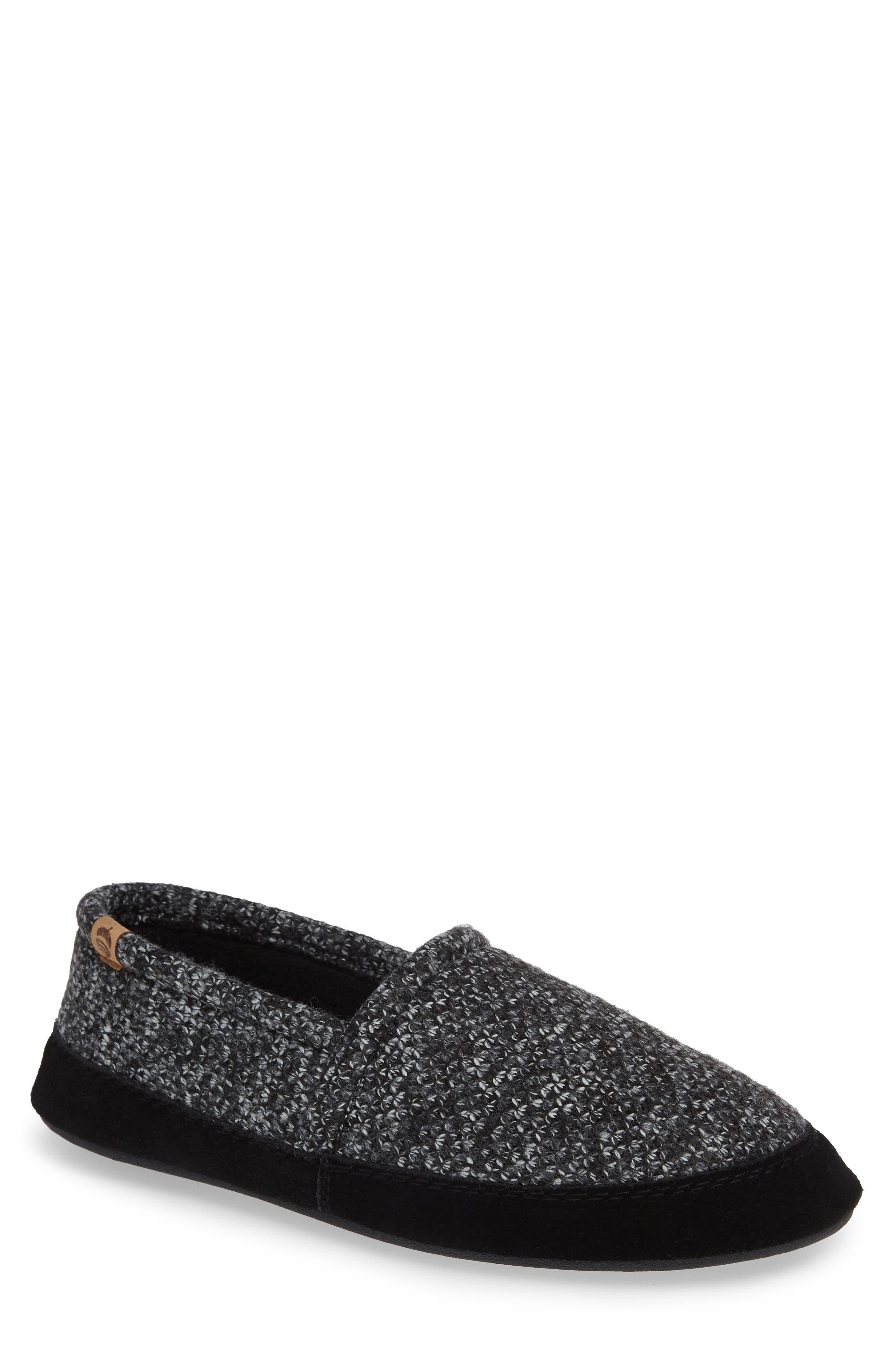 Moc Slipper,                         Main,                         color, BLACK TWEED
