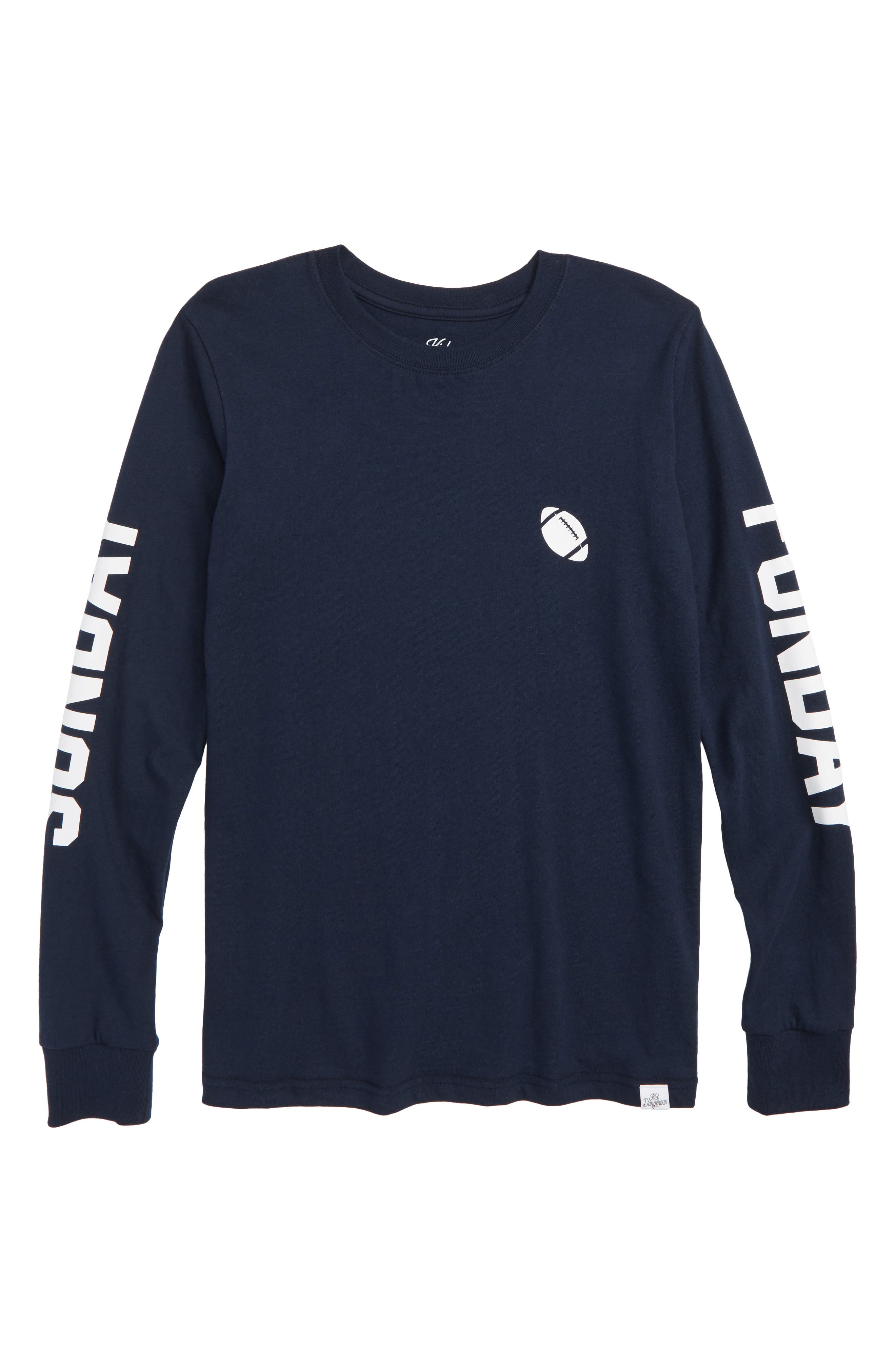 Sunday Funday Graphic T-Shirt,                         Main,                         color, NAVY