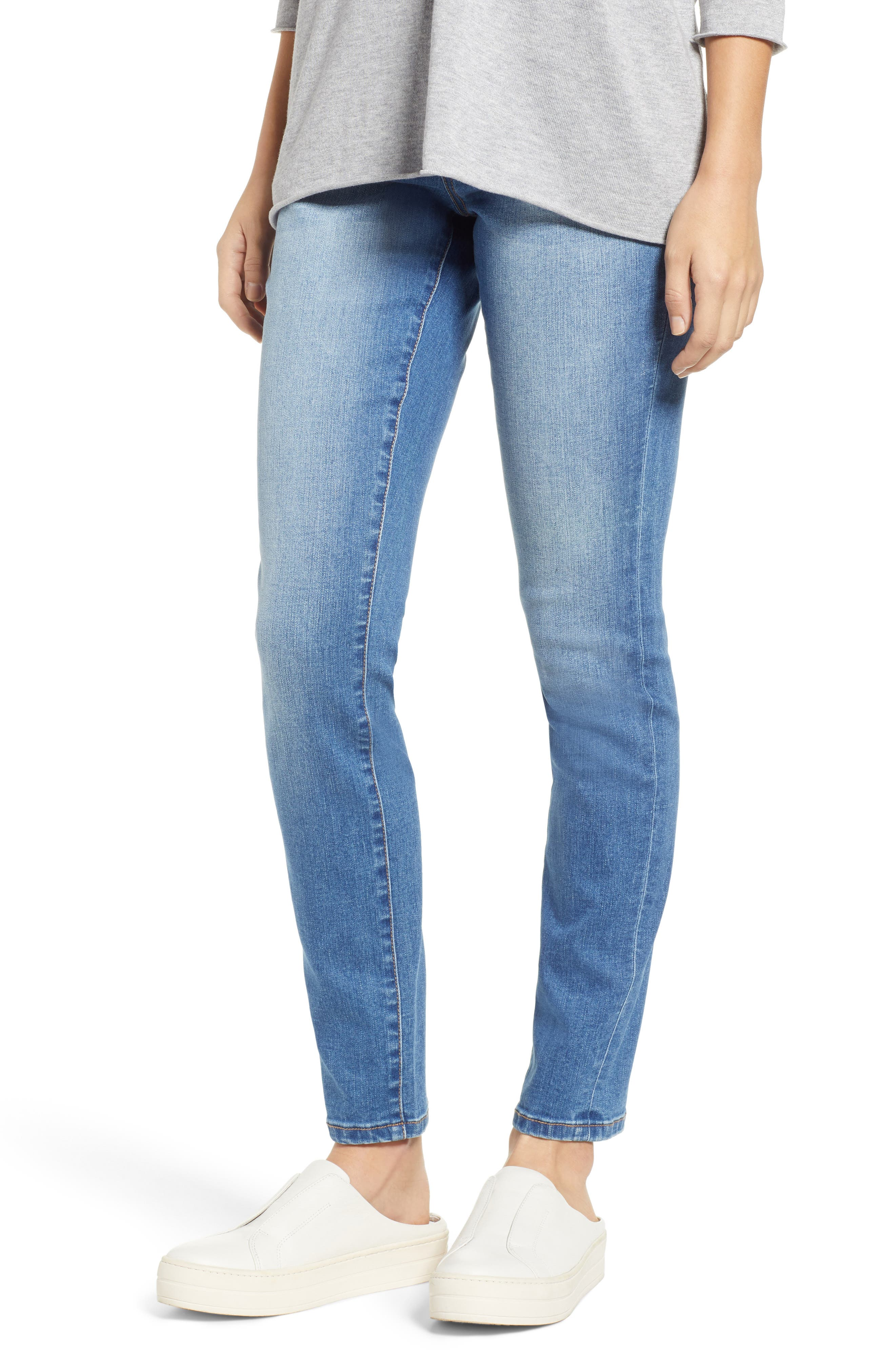 JAG JEANS Nora Pull-On Skinny Jeans in Authentic Blue