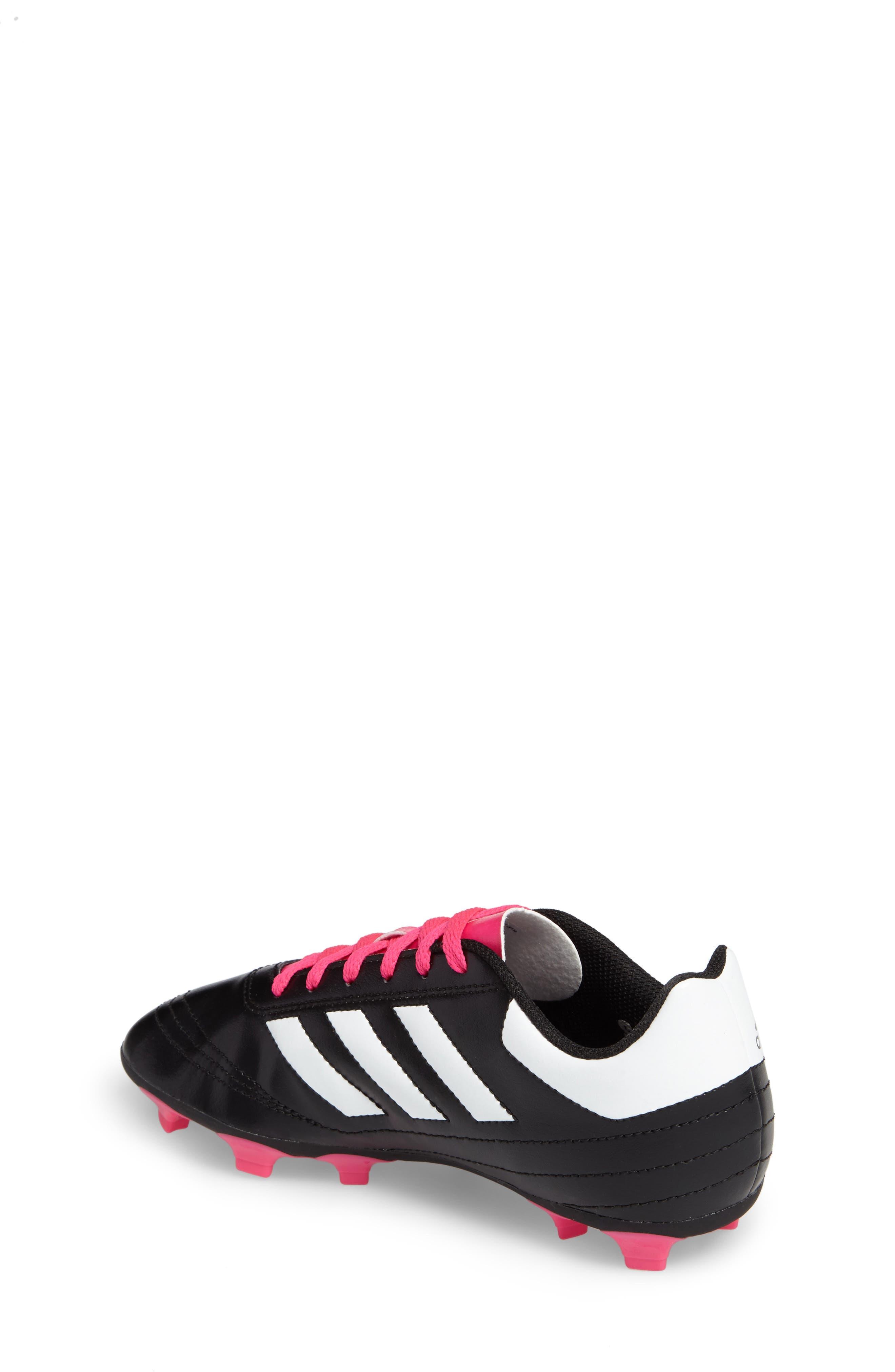 Goletto VI Soccer Shoe,                             Alternate thumbnail 2, color,                             CORE BLACK/ WHITE/ SHOCK PINK