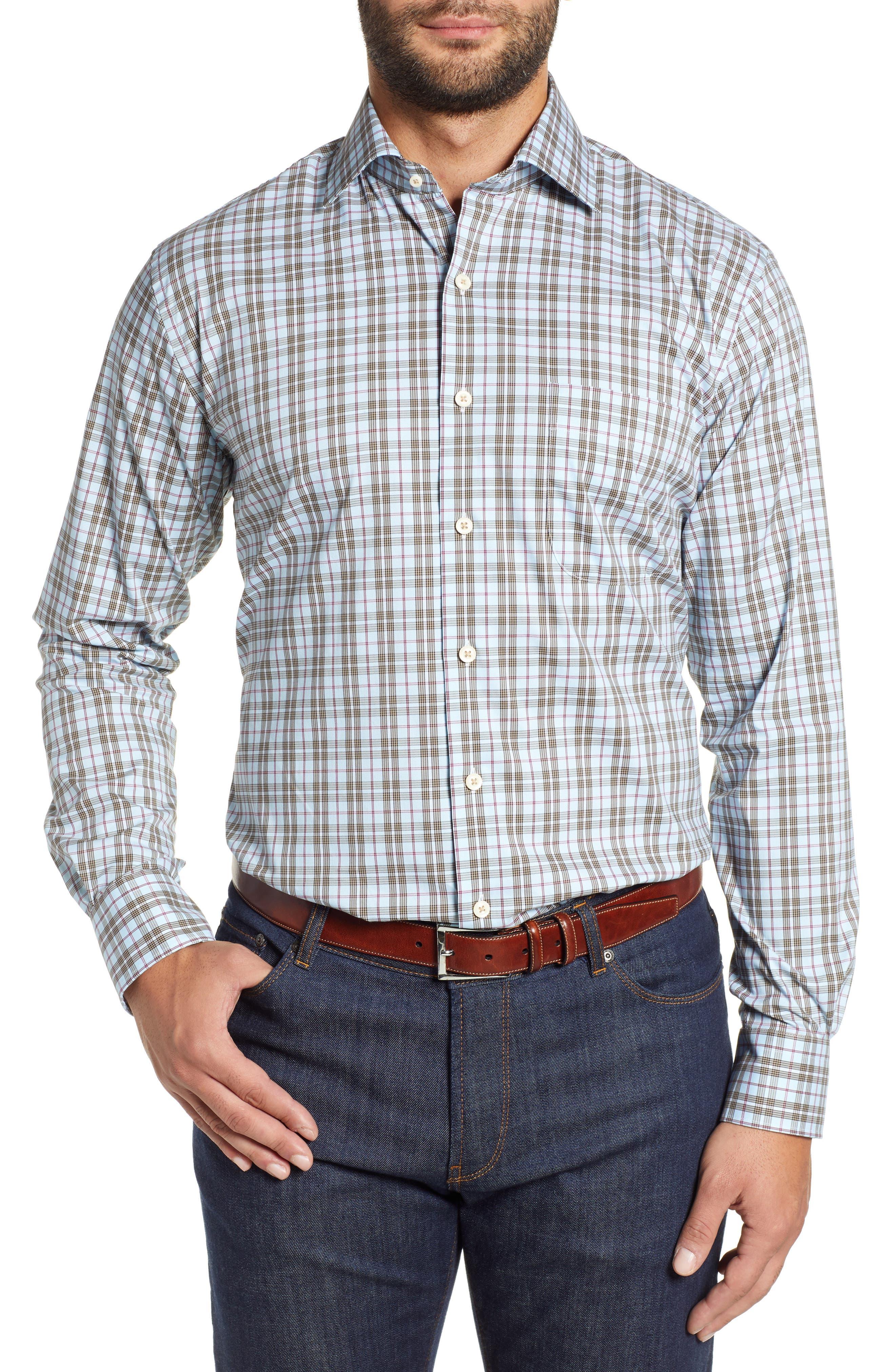 Crown Comfort Hazel Glen Regular Fit Sport Shirt,                         Main,                         color, 477