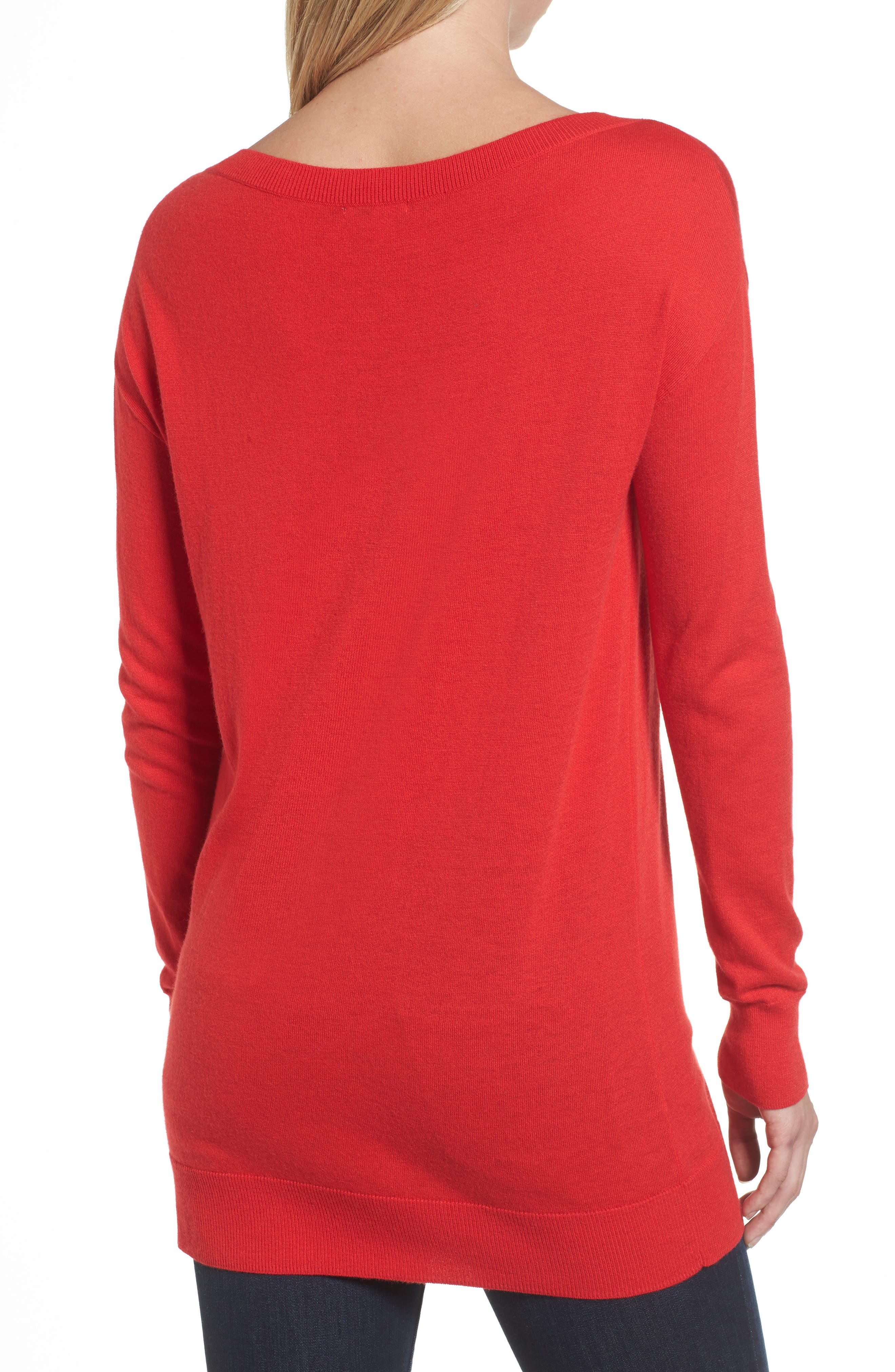 Boatneck Tunic Sweater,                             Alternate thumbnail 14, color,
