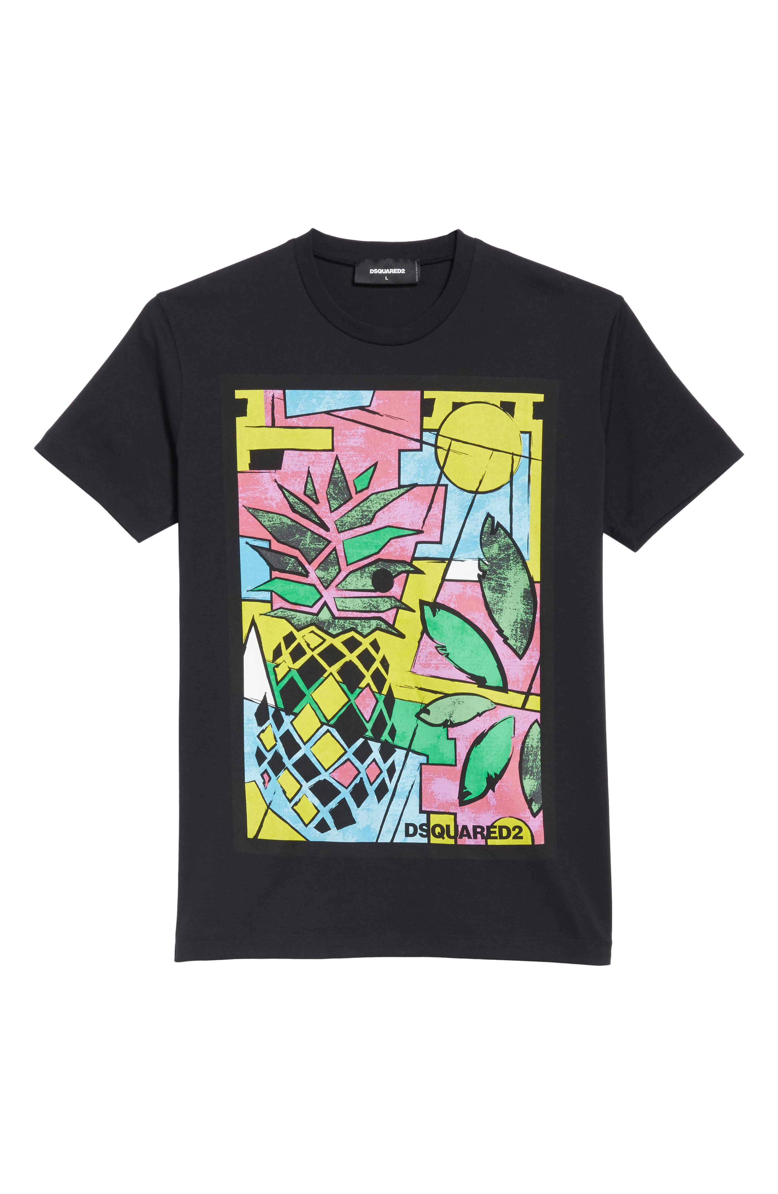 Pineapple Graphic T-Shirt,                             Alternate thumbnail 6, color,                             001