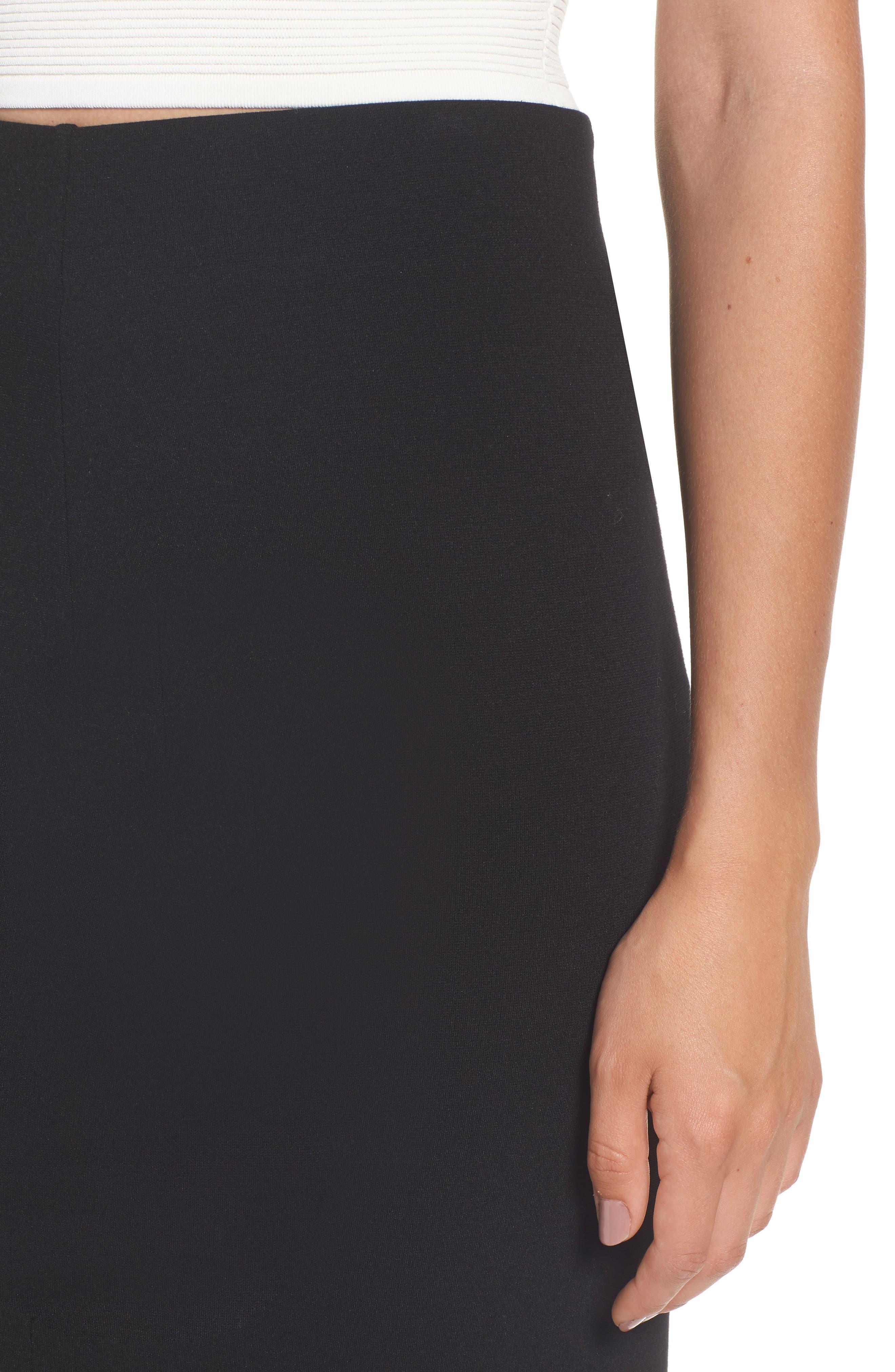 Ponte Skirt,                             Alternate thumbnail 4, color,                             001