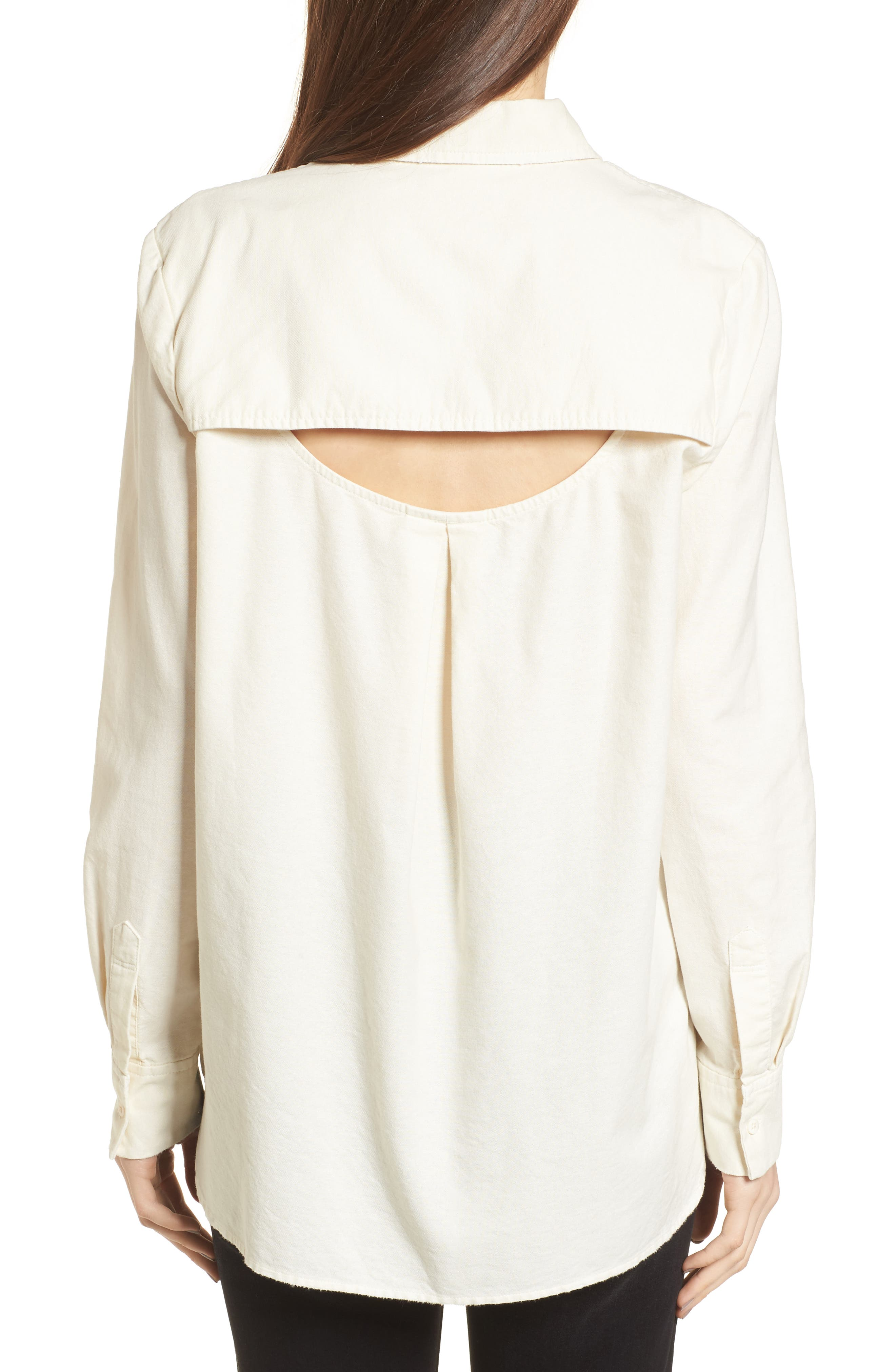 Shana Woven Shirt,                             Alternate thumbnail 2, color,                             100