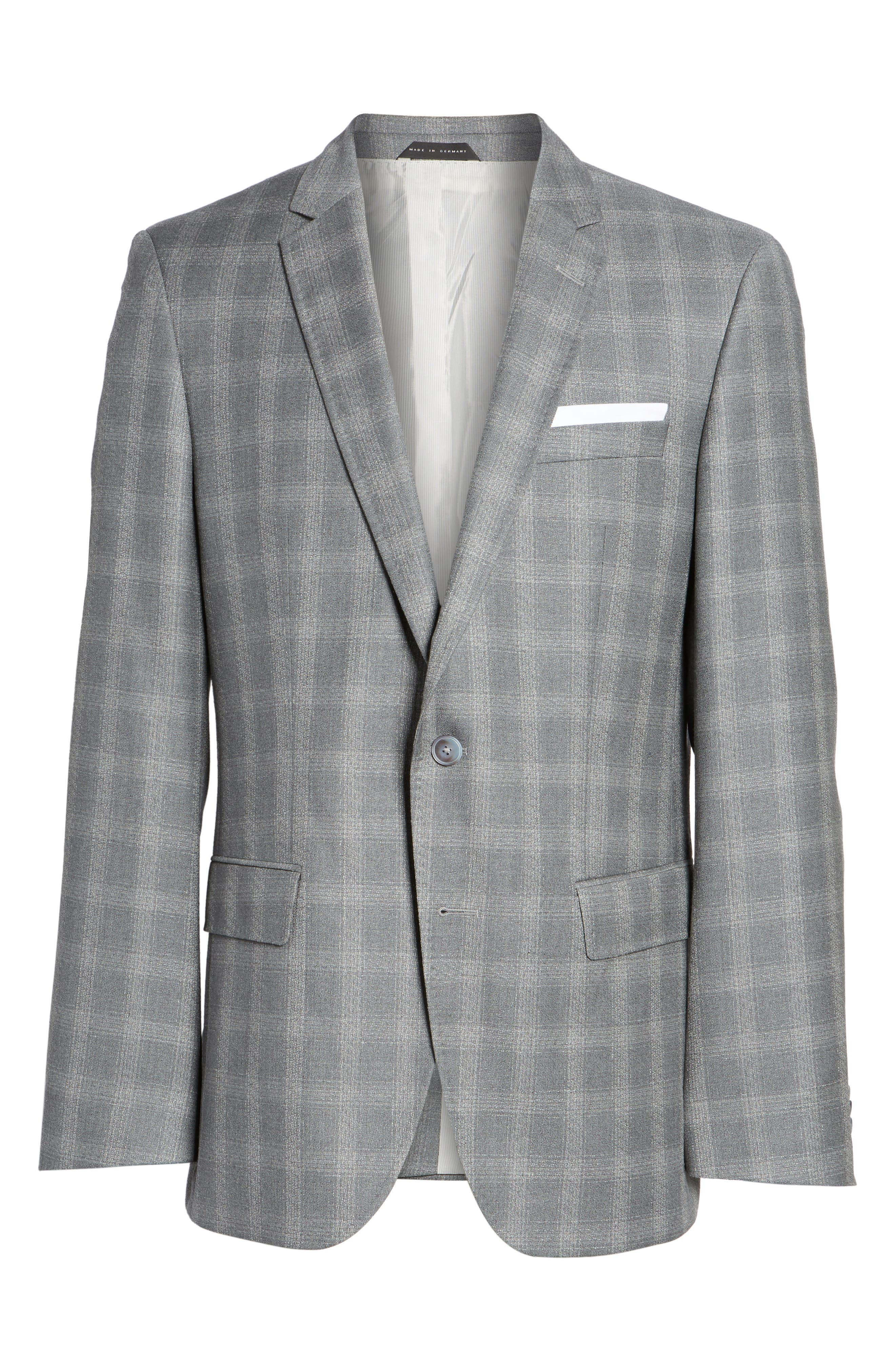 Hutsons Classic Fit Check Sport Coat,                             Alternate thumbnail 5, color,