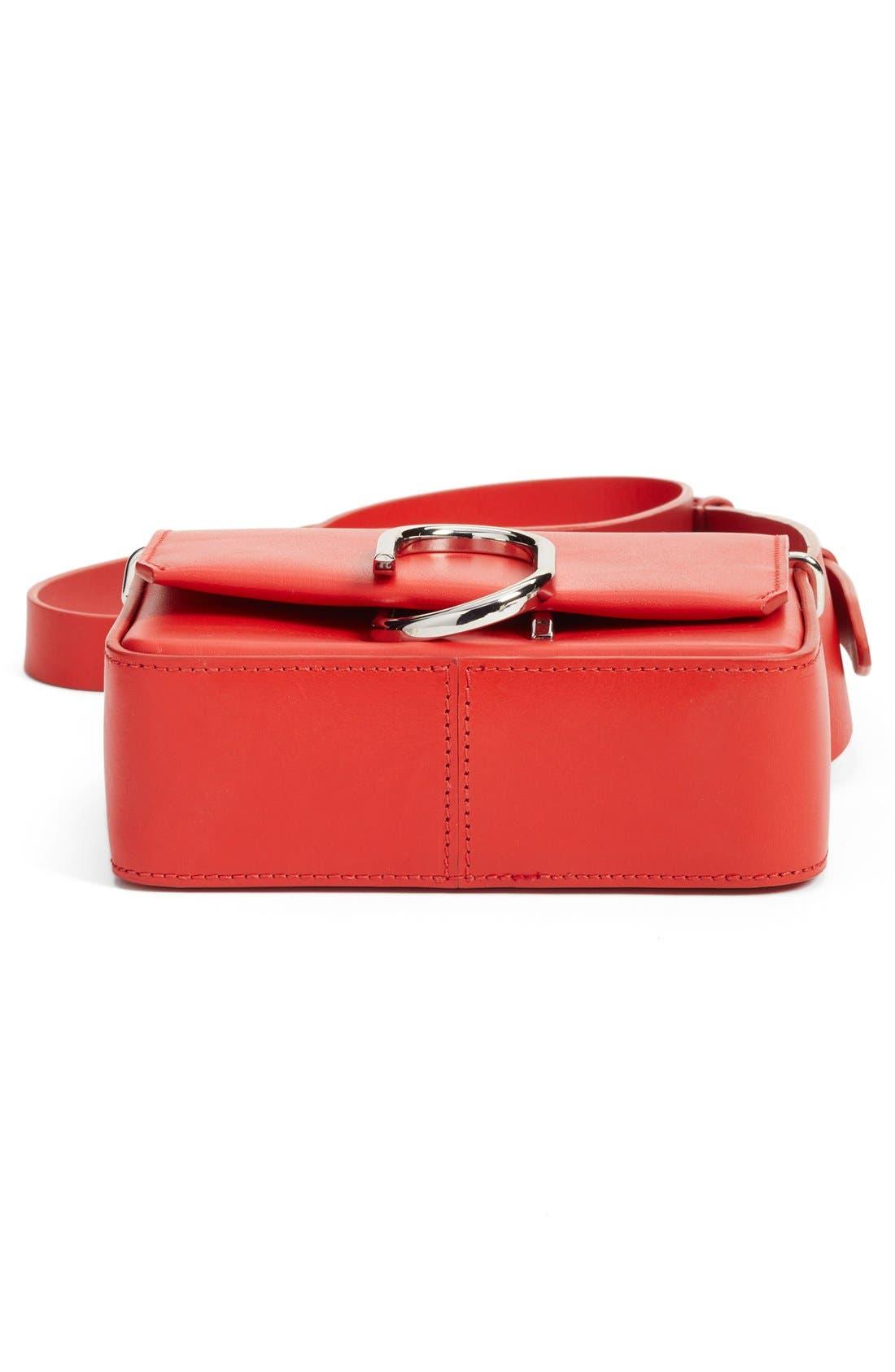 'Mini Alix' Leather Shoulder Bag,                             Alternate thumbnail 5, color,