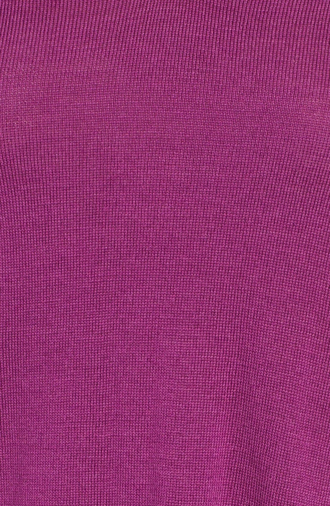 Lightweight Merino Jersey V-Neck Tunic,                             Alternate thumbnail 70, color,