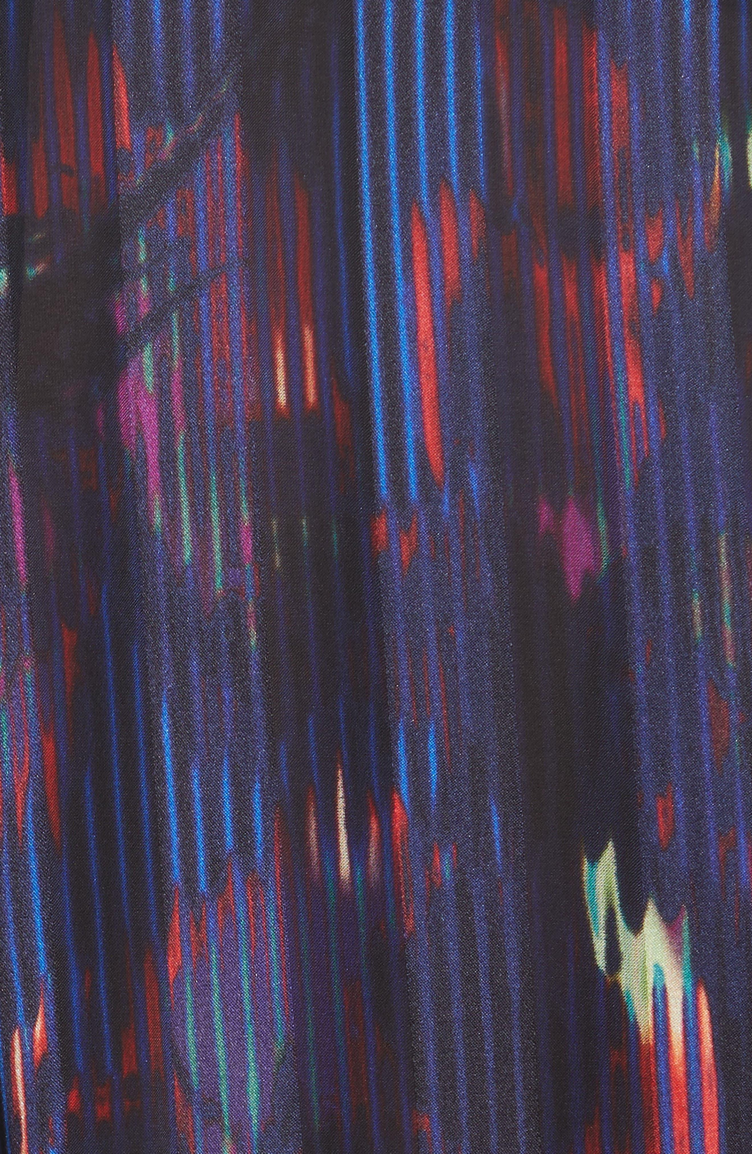 Eleonore Print Silk Blend Shirt,                             Alternate thumbnail 5, color,                             ECLIPSE MULTI