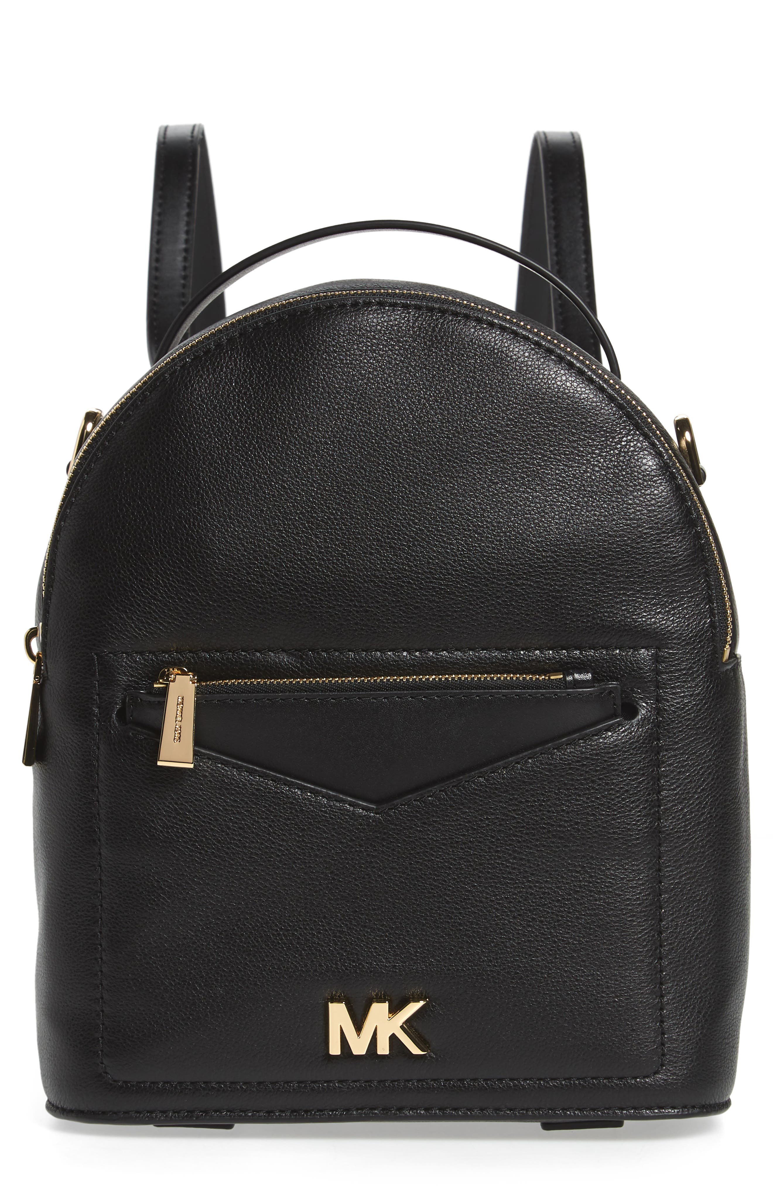 Small Jessa Leather Convertible Backpack,                         Main,                         color,