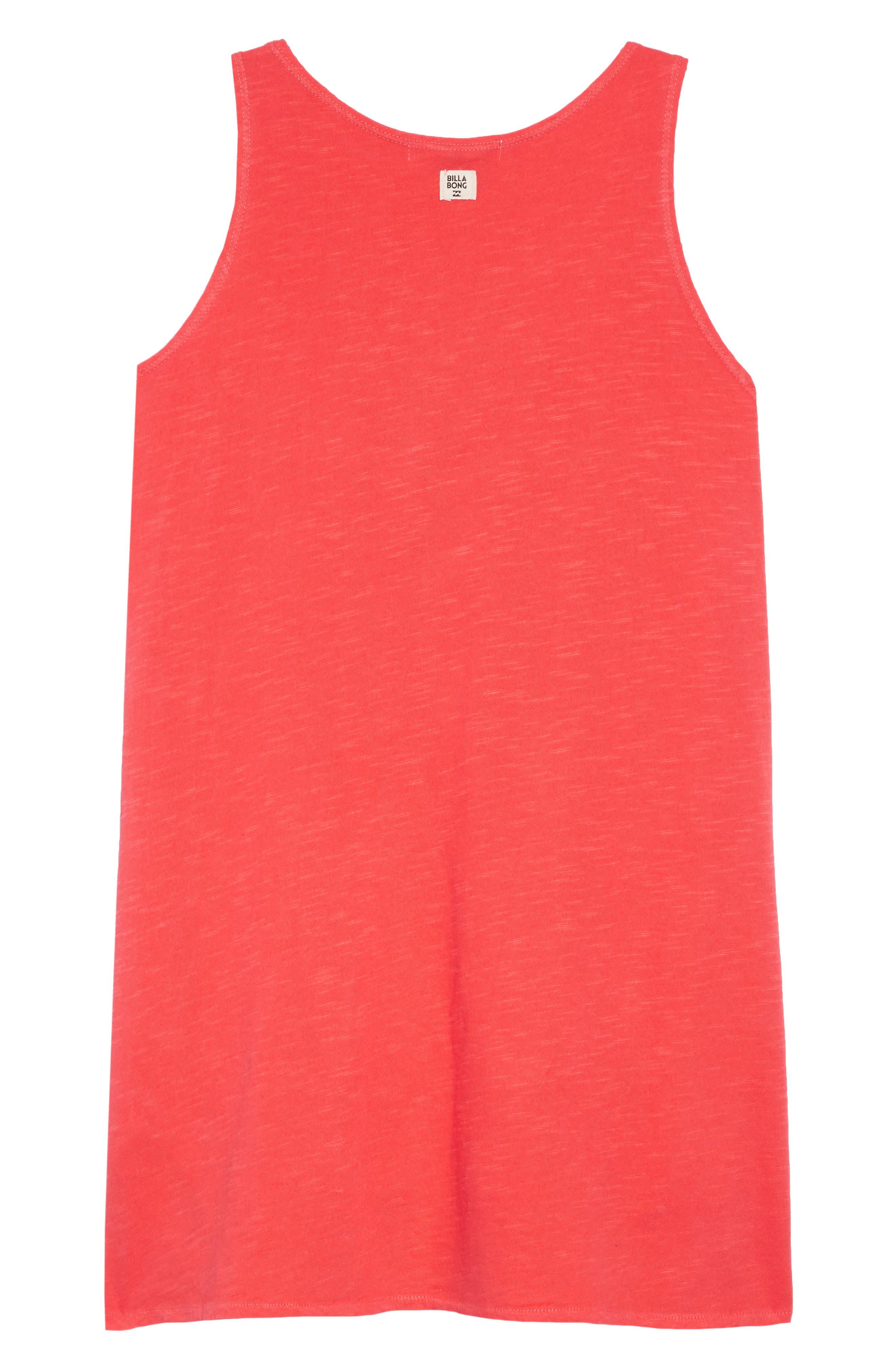Choose You Tank Dress,                             Alternate thumbnail 2, color,                             SUNSET RED