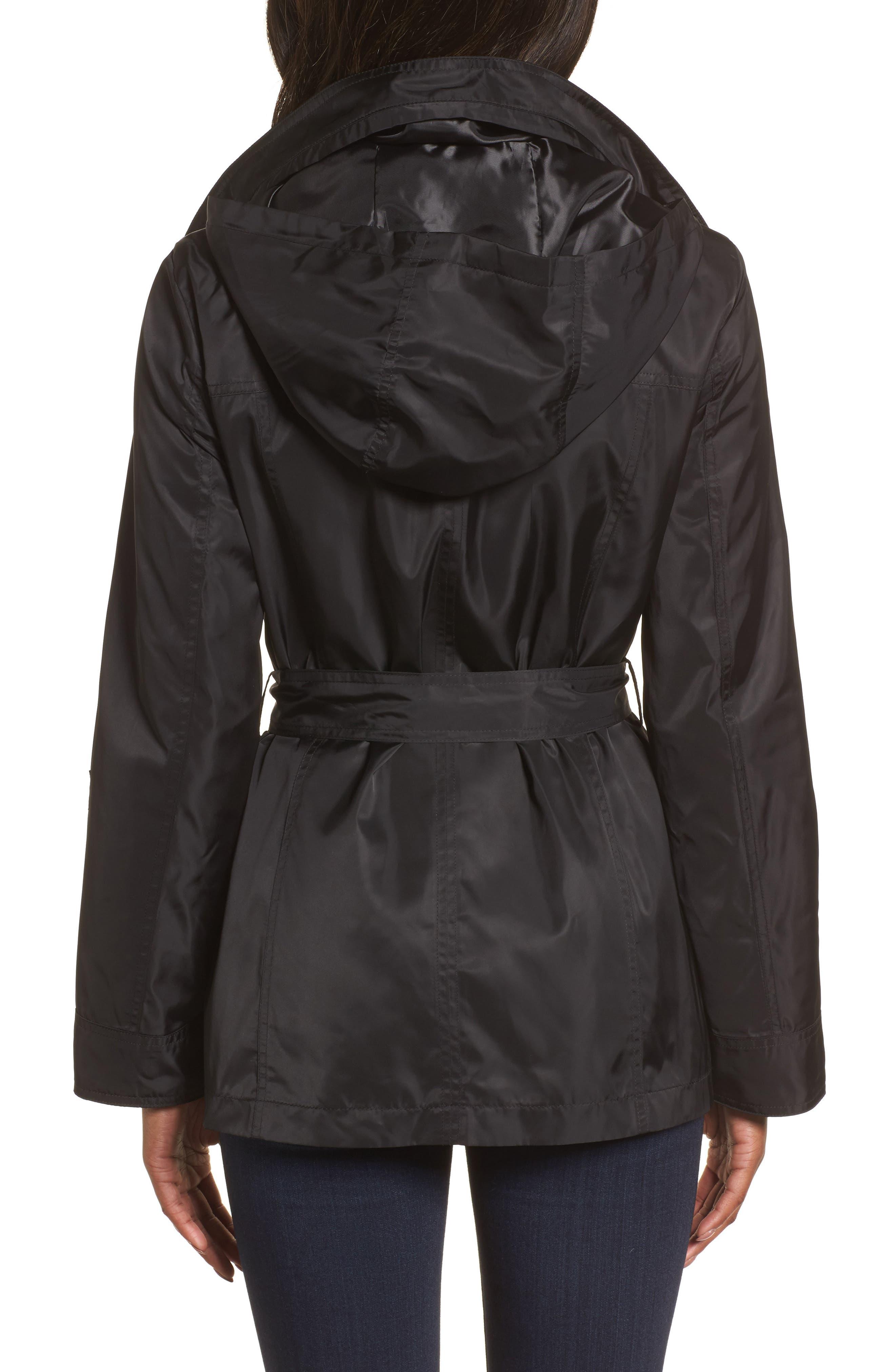 Belted Lightweight Jacket,                             Alternate thumbnail 4, color,                             001