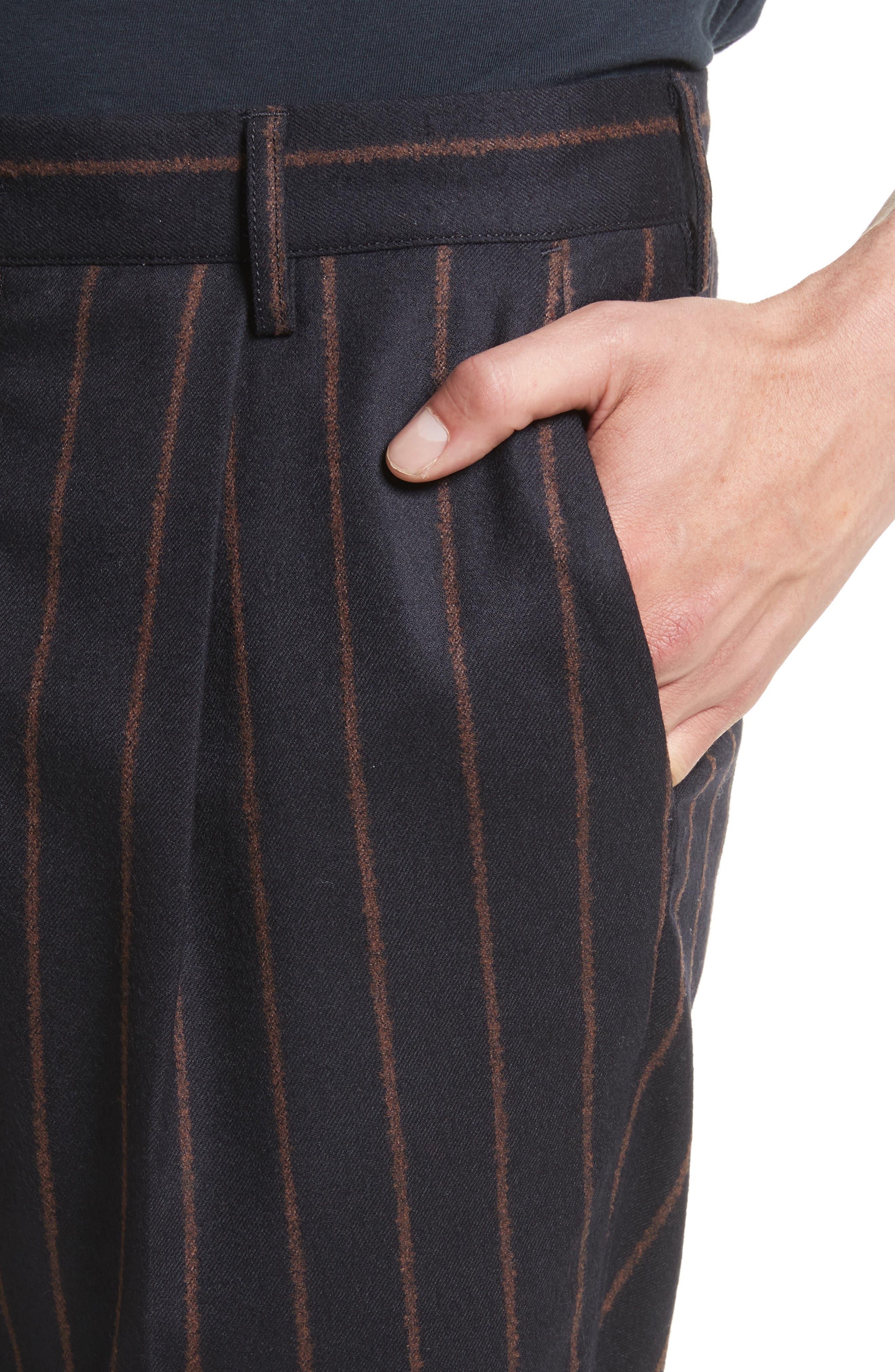 Bouclé Stripe Flannel Pants,                             Alternate thumbnail 4, color,                             400