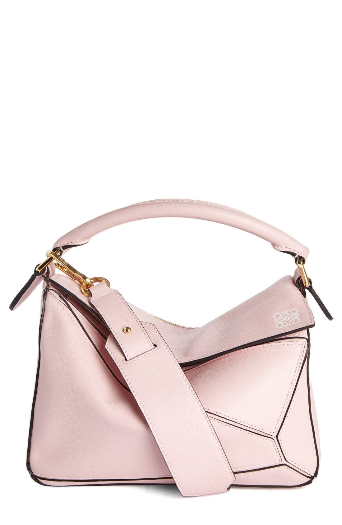 'Small Puzzle' Calfskin Leather Bag,                             Main thumbnail 7, color,