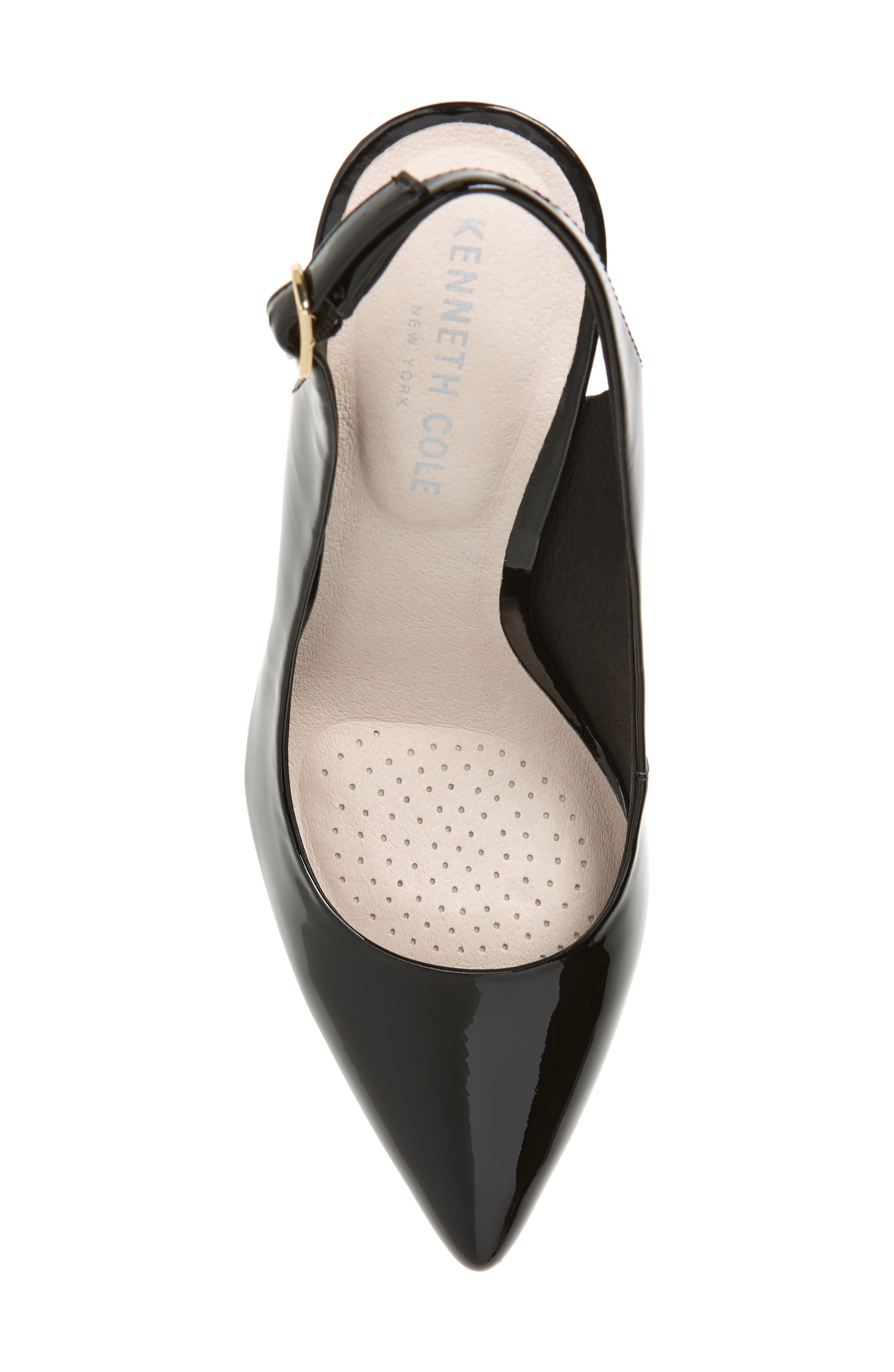 KENNETH COLE NEW YORK,                             Riley 85 Slingback Pump,                             Alternate thumbnail 5, color,                             BLACK PATENT LEATHER