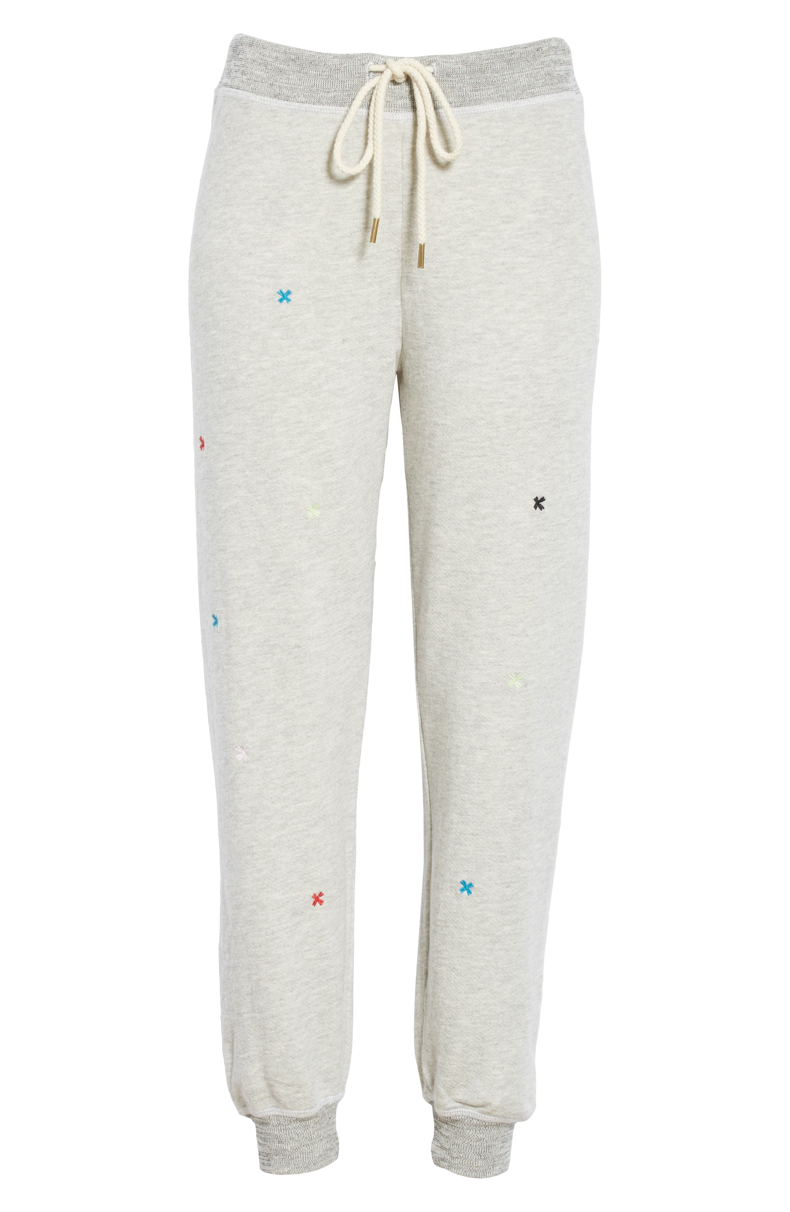 The Cropped Sweatpants,                             Alternate thumbnail 6, color,                             HEATHER GREY/ MULTI