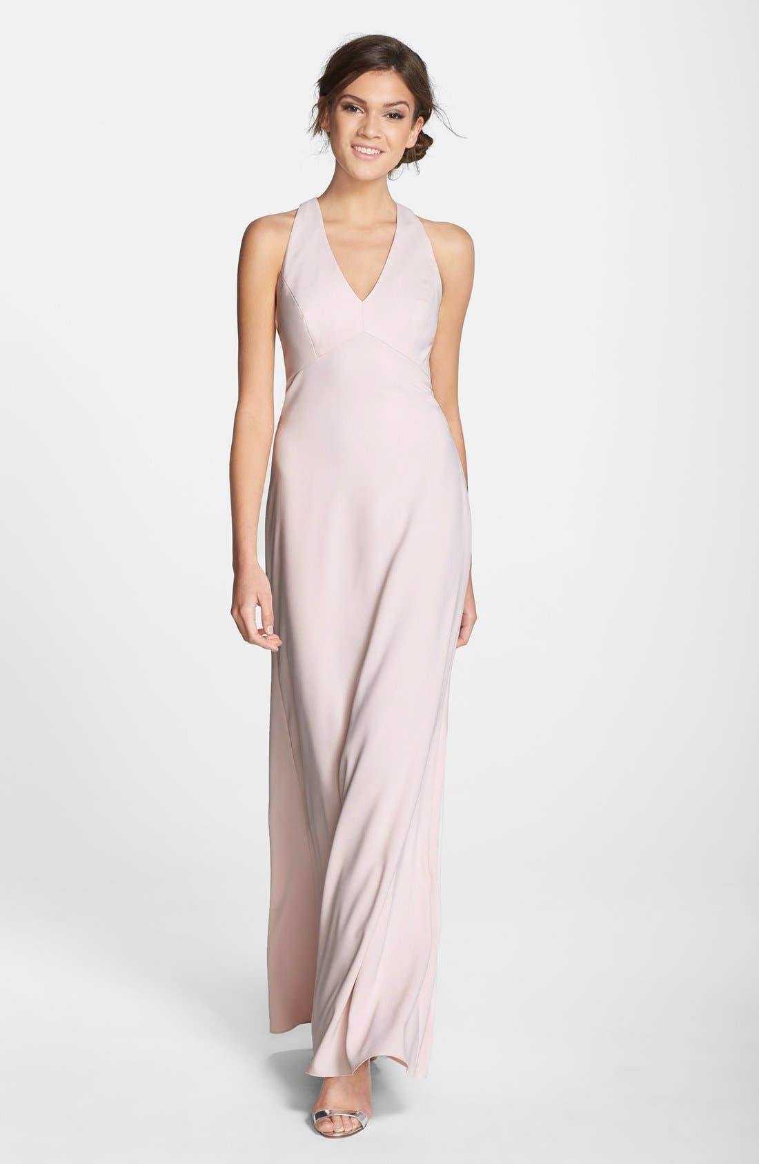Crepe Gown,                             Main thumbnail 2, color,