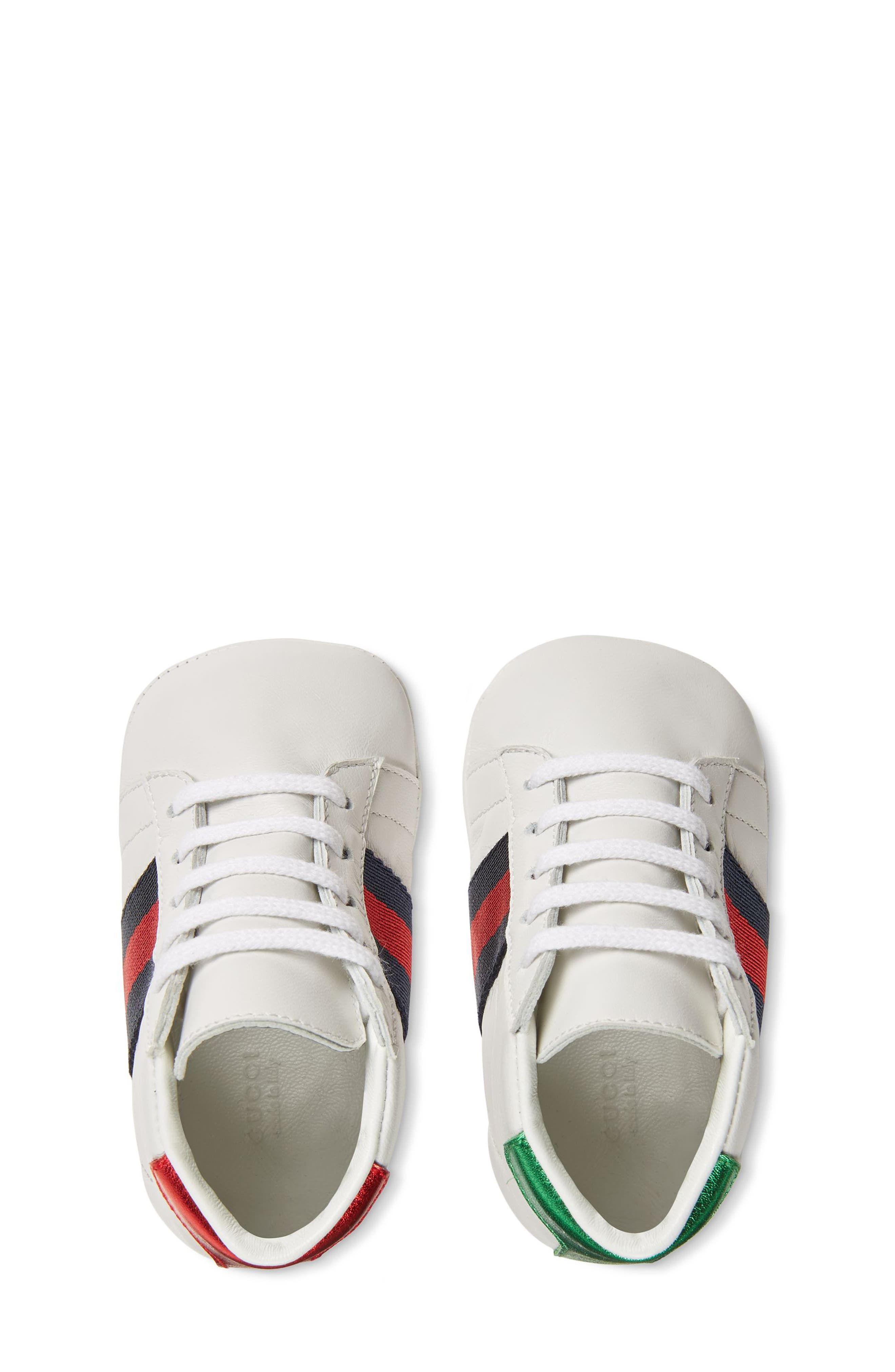 New Ace Crib Shoe,                             Alternate thumbnail 4, color,                             WHITE