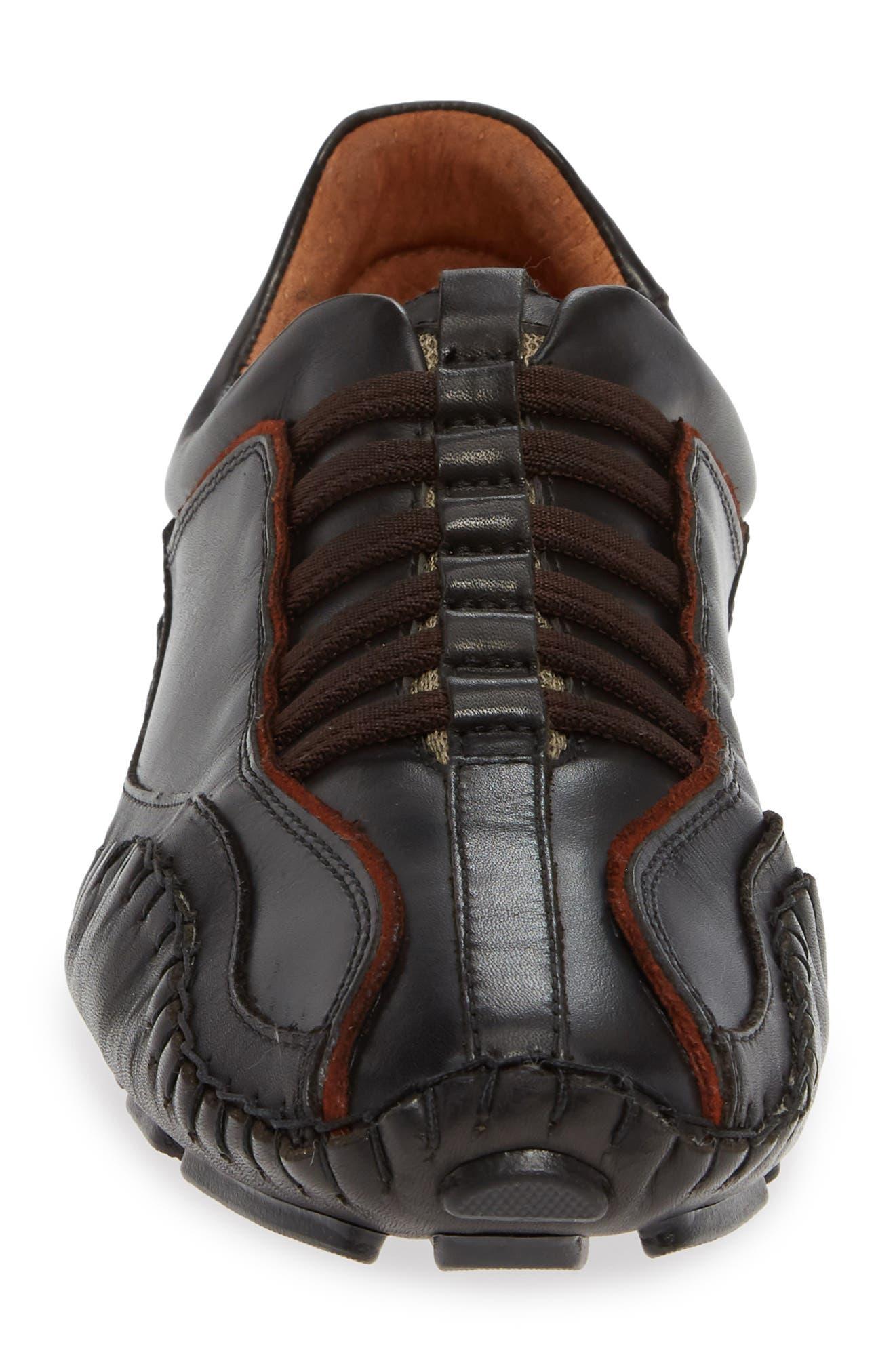'Fuencarral' Driving Shoe,                             Alternate thumbnail 4, color,                             BLACK