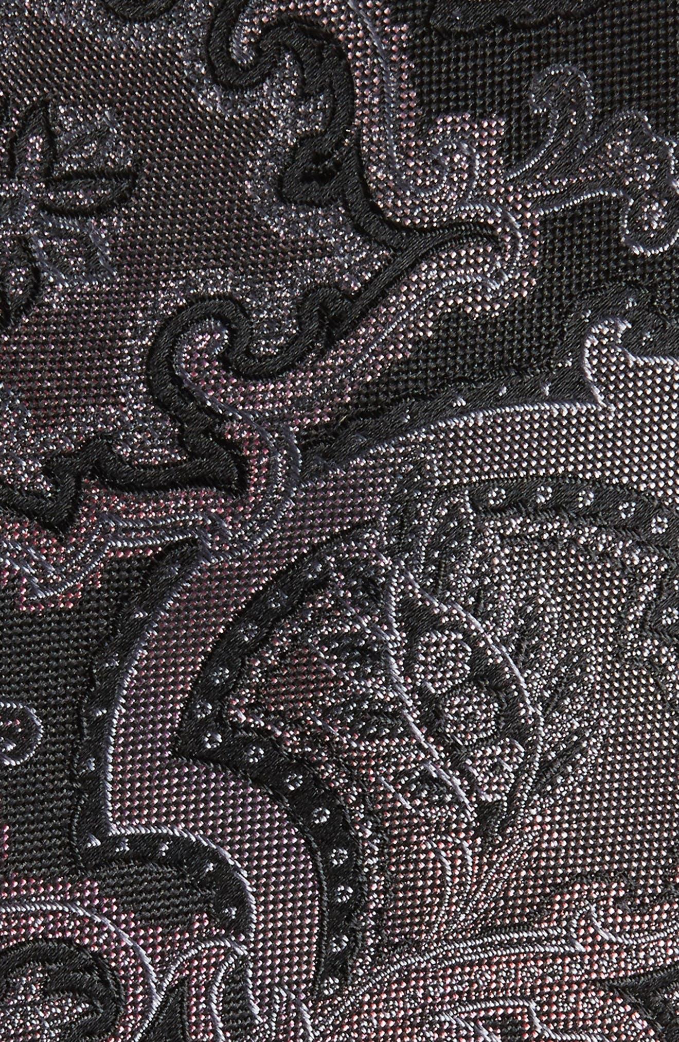 Ellerson Paisley Silk Tie,                             Alternate thumbnail 2, color,                             001