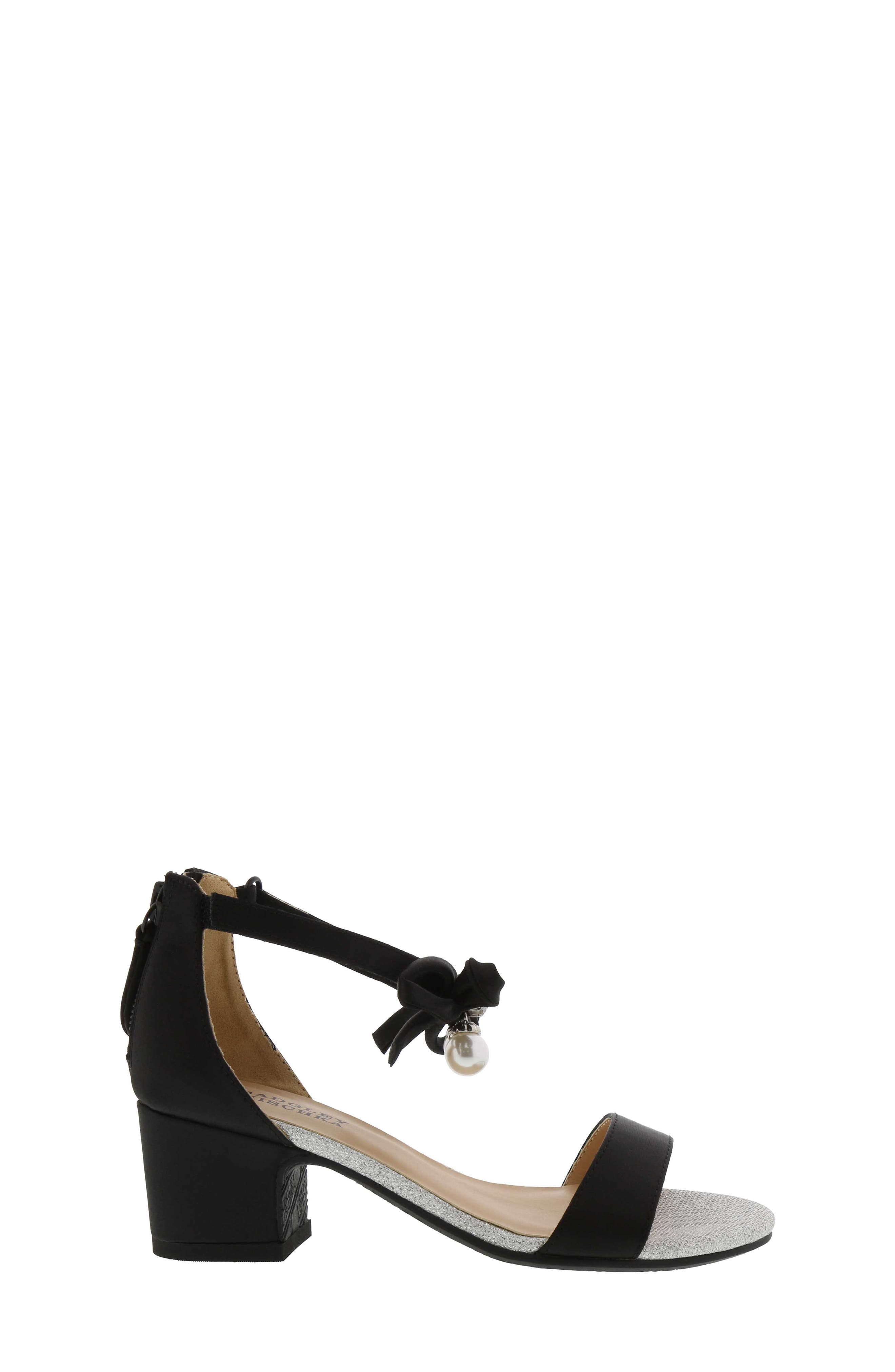 Pernia Embellished Sandal,                             Alternate thumbnail 3, color,                             BLACK