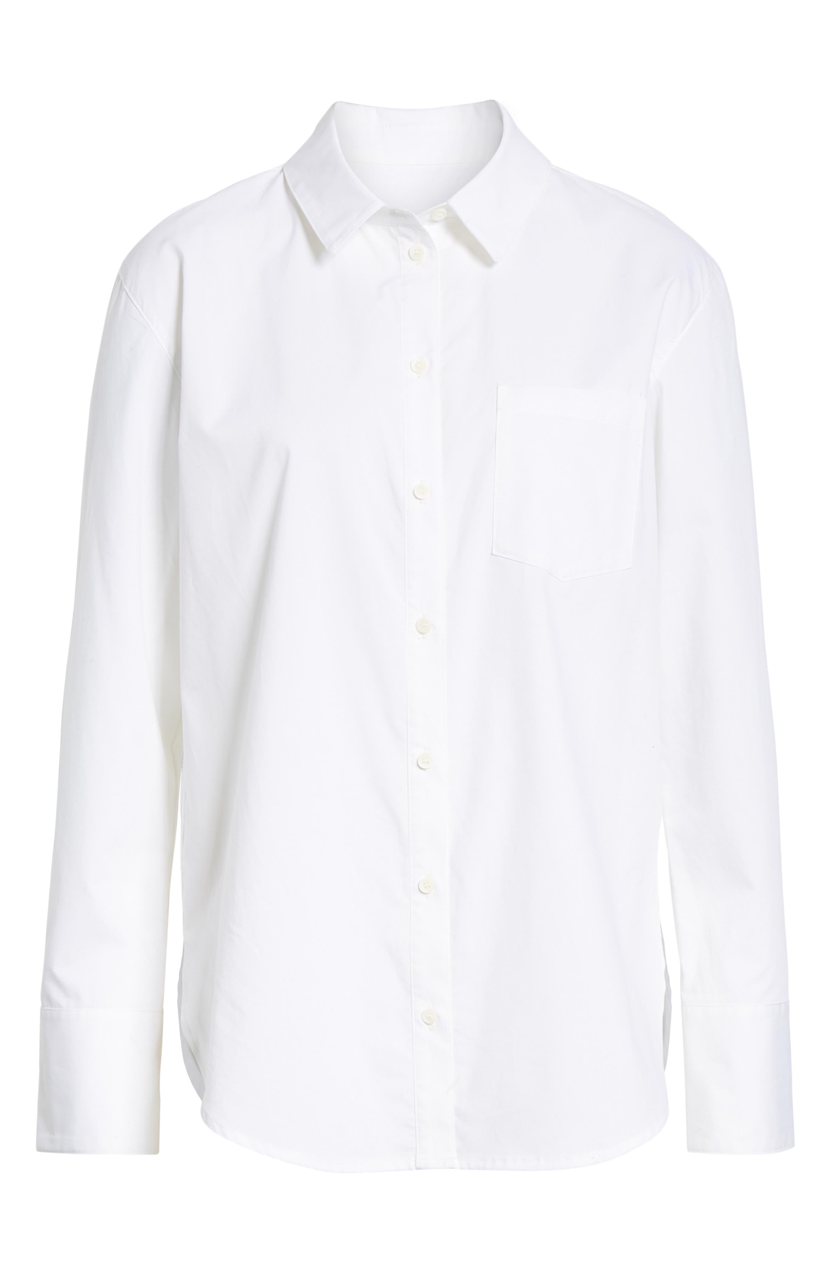 Boyfriend Oxford Shirt,                             Alternate thumbnail 6, color,                             100