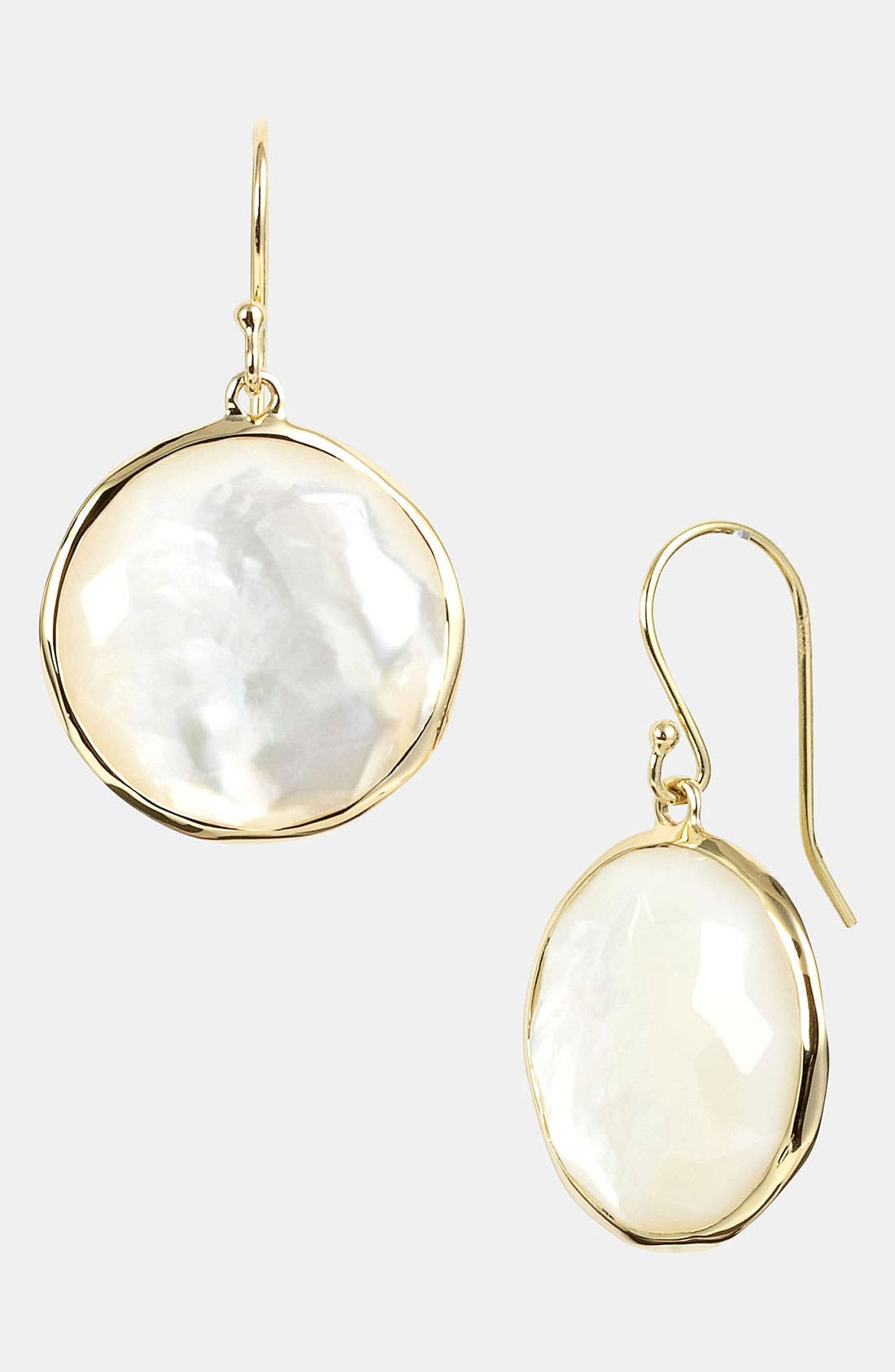 'Rock Candy - Lollipop' 18k Gold Drop Earrings,                             Main thumbnail 1, color,                             YELLOW GOLD/MOTHER OF PEARL