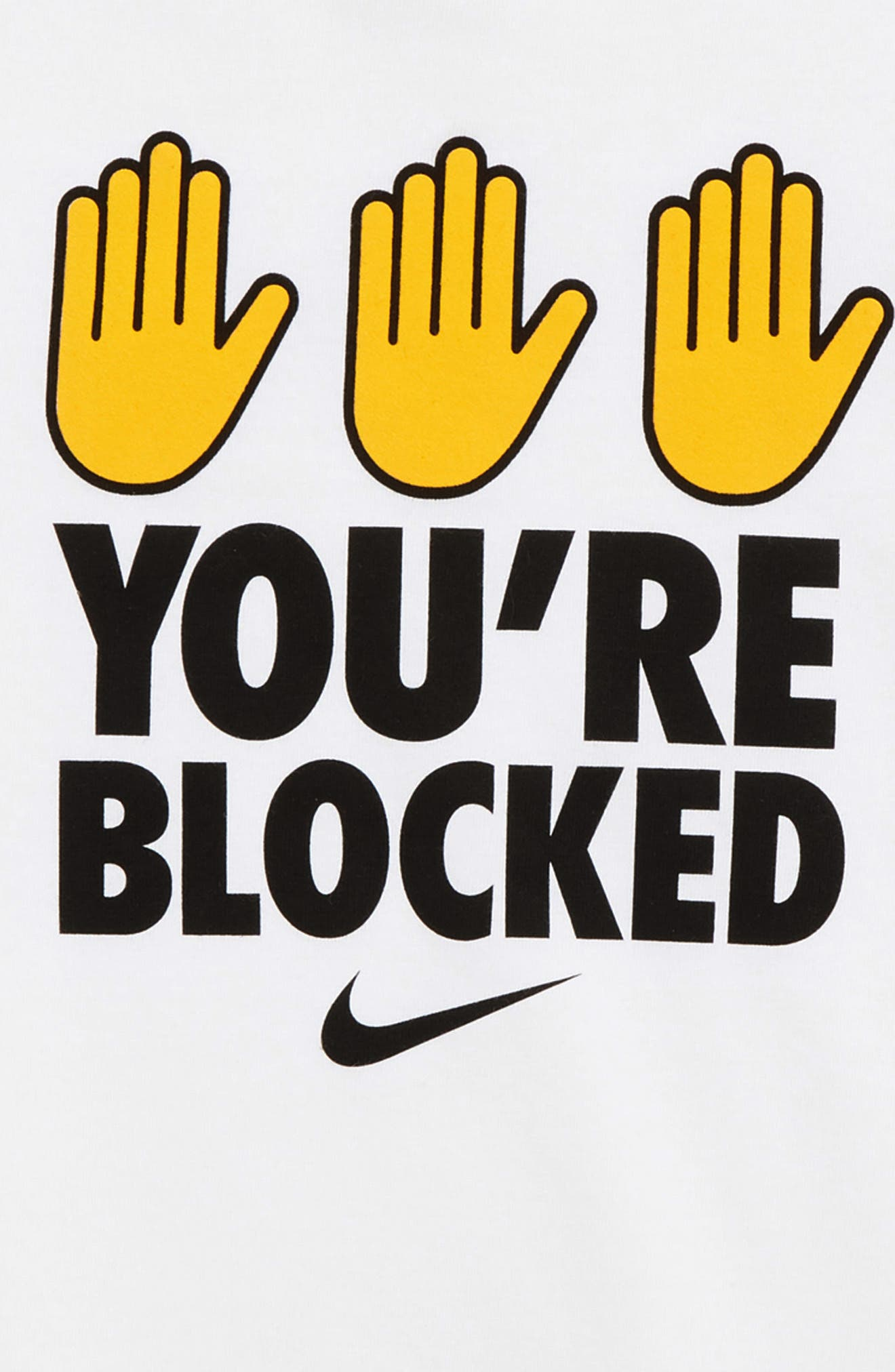 Dry You're Blocked Graphic T-Shirt,                             Alternate thumbnail 2, color,                             WHITE