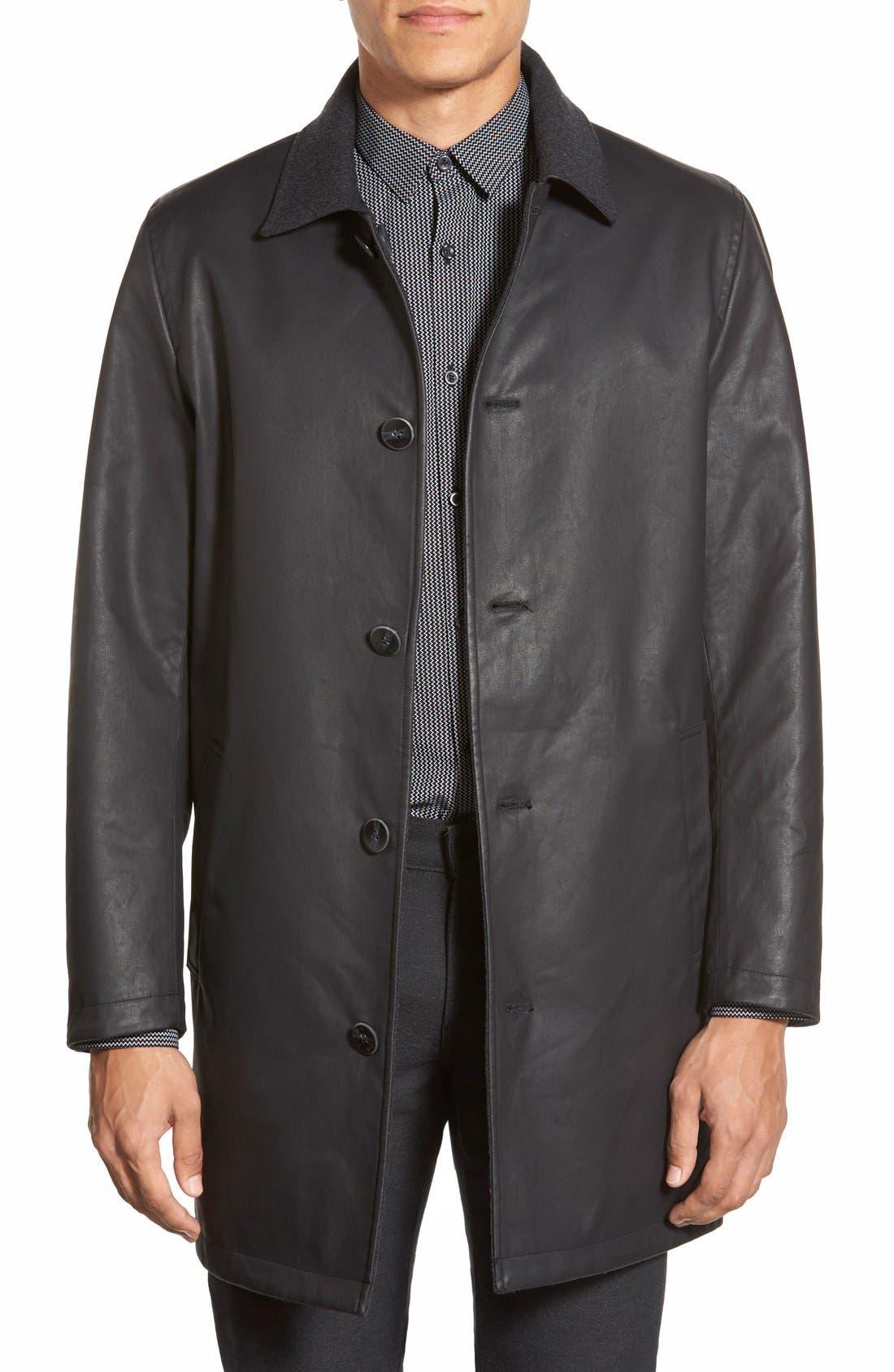 Cotton & Wool Reversible Car Coat,                             Main thumbnail 1, color,                             001