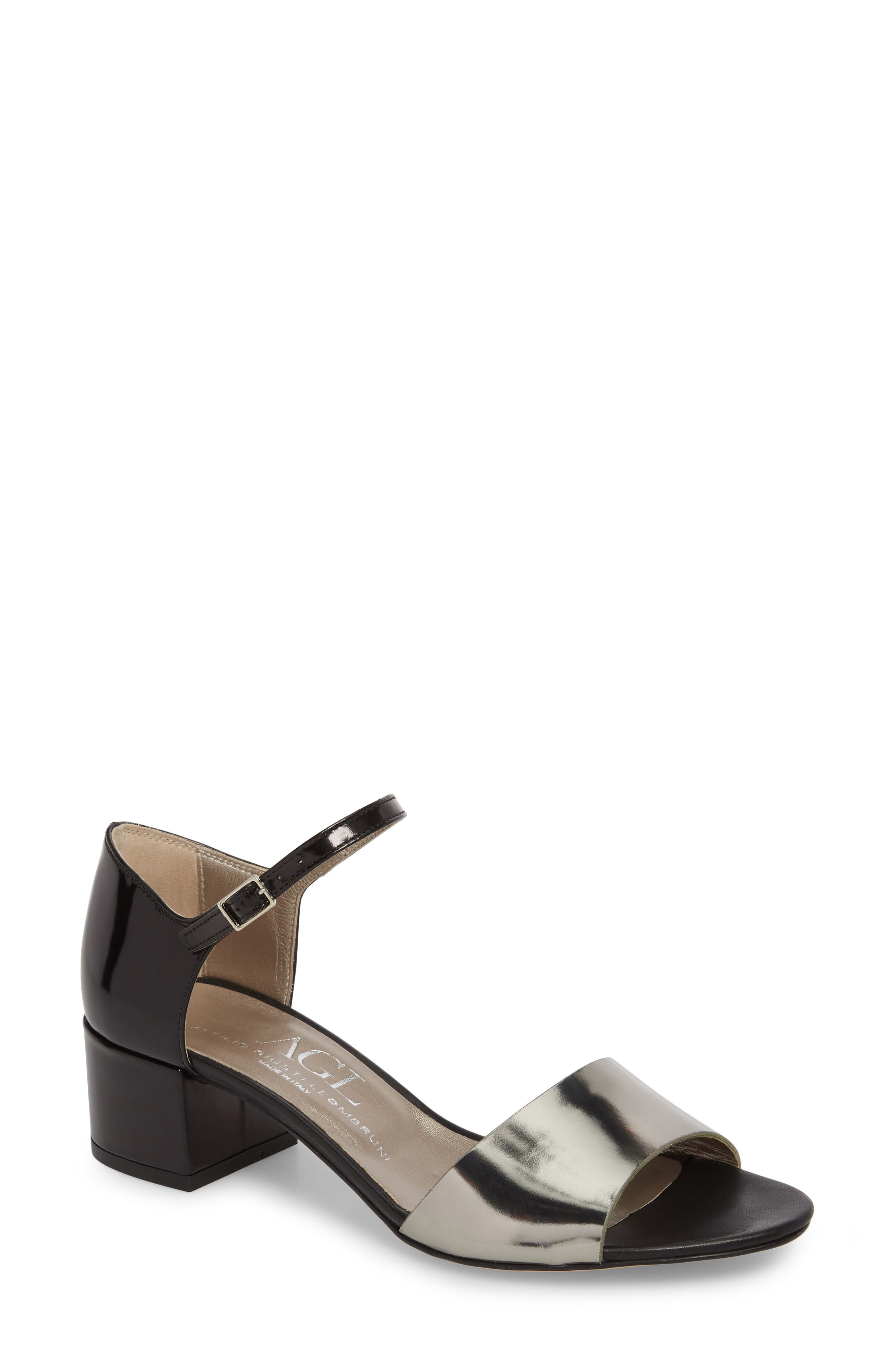 Quarter Strap Sandal,                         Main,                         color, 001