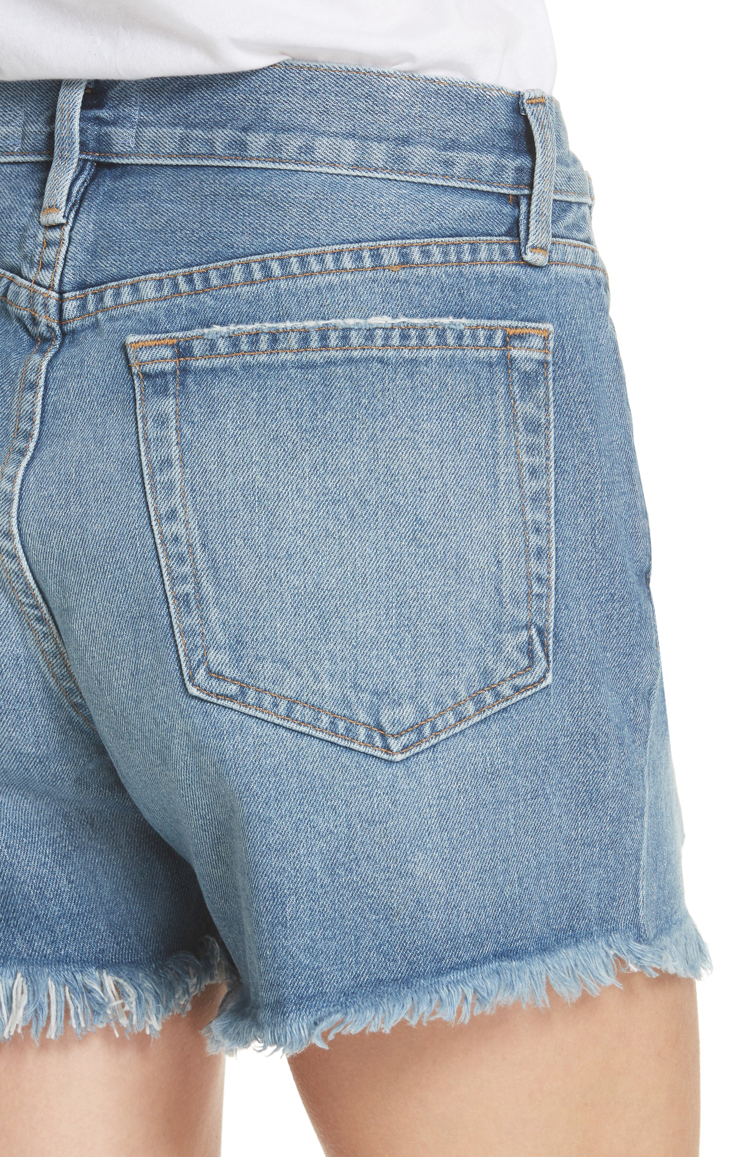 Le Stevie Denim Shorts,                             Alternate thumbnail 4, color,                             401