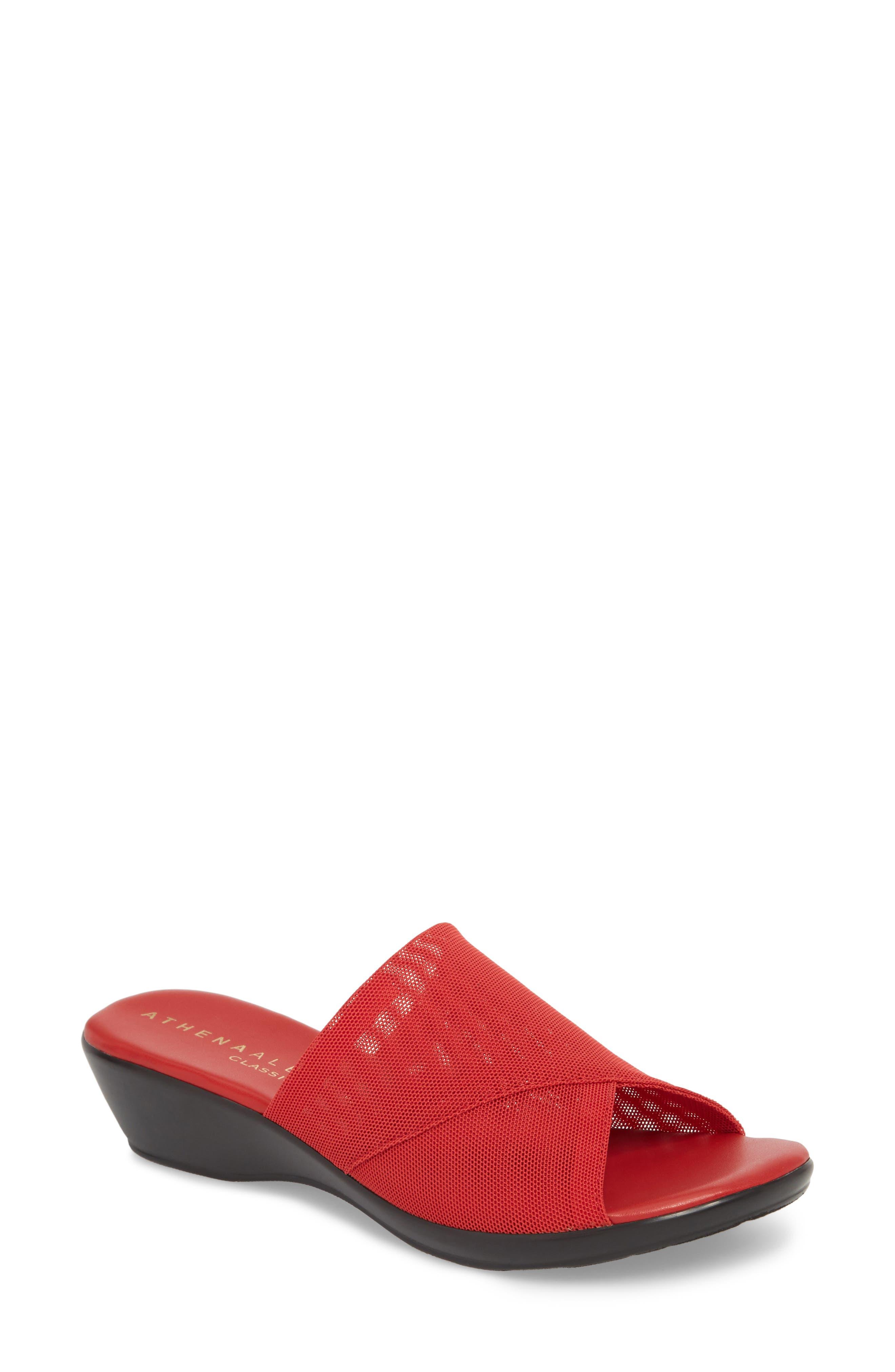 Athena Alexander Viola Slide Sandal, Red