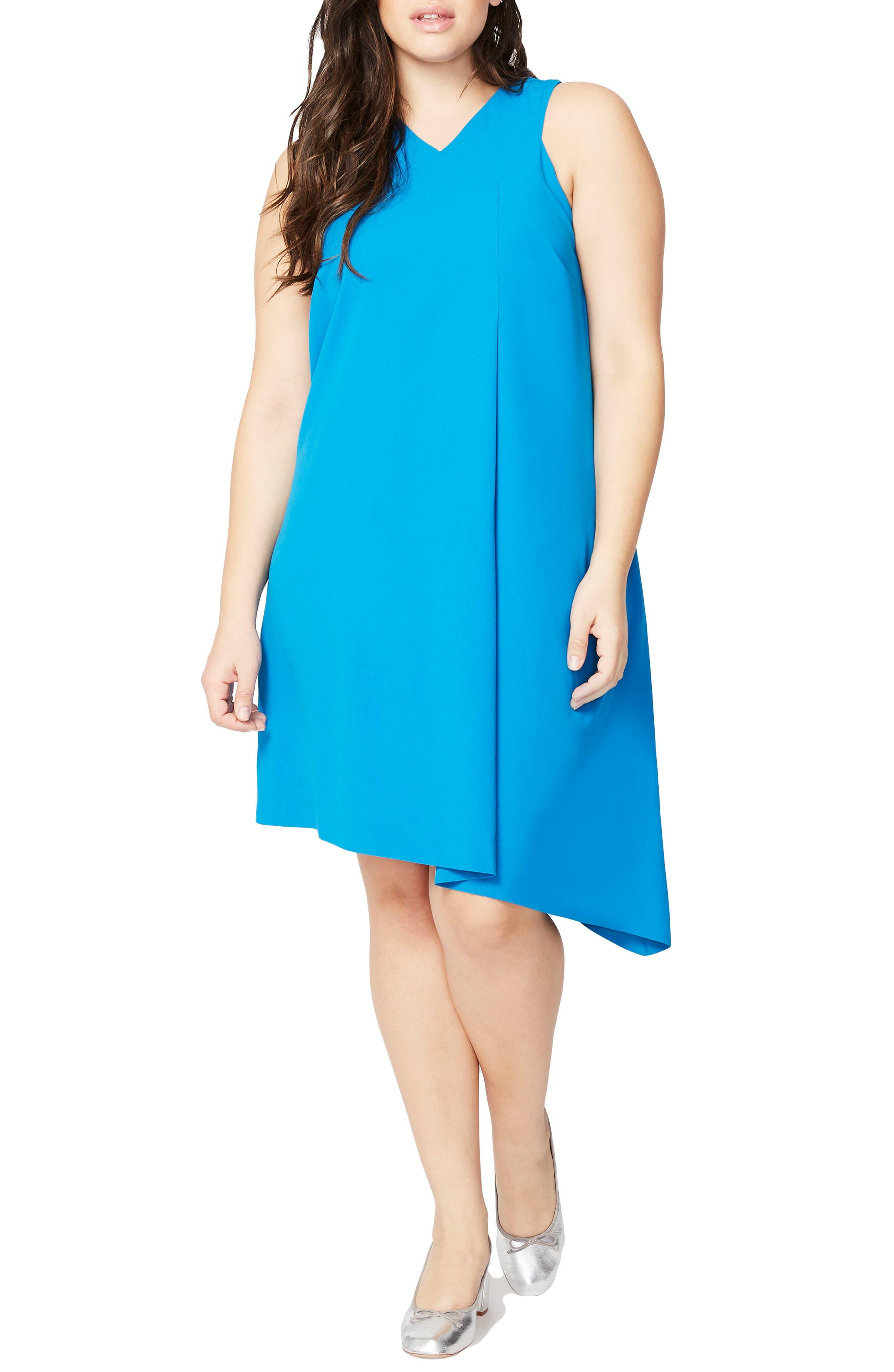 Pleat Front Shift Dress,                         Main,                         color, 460