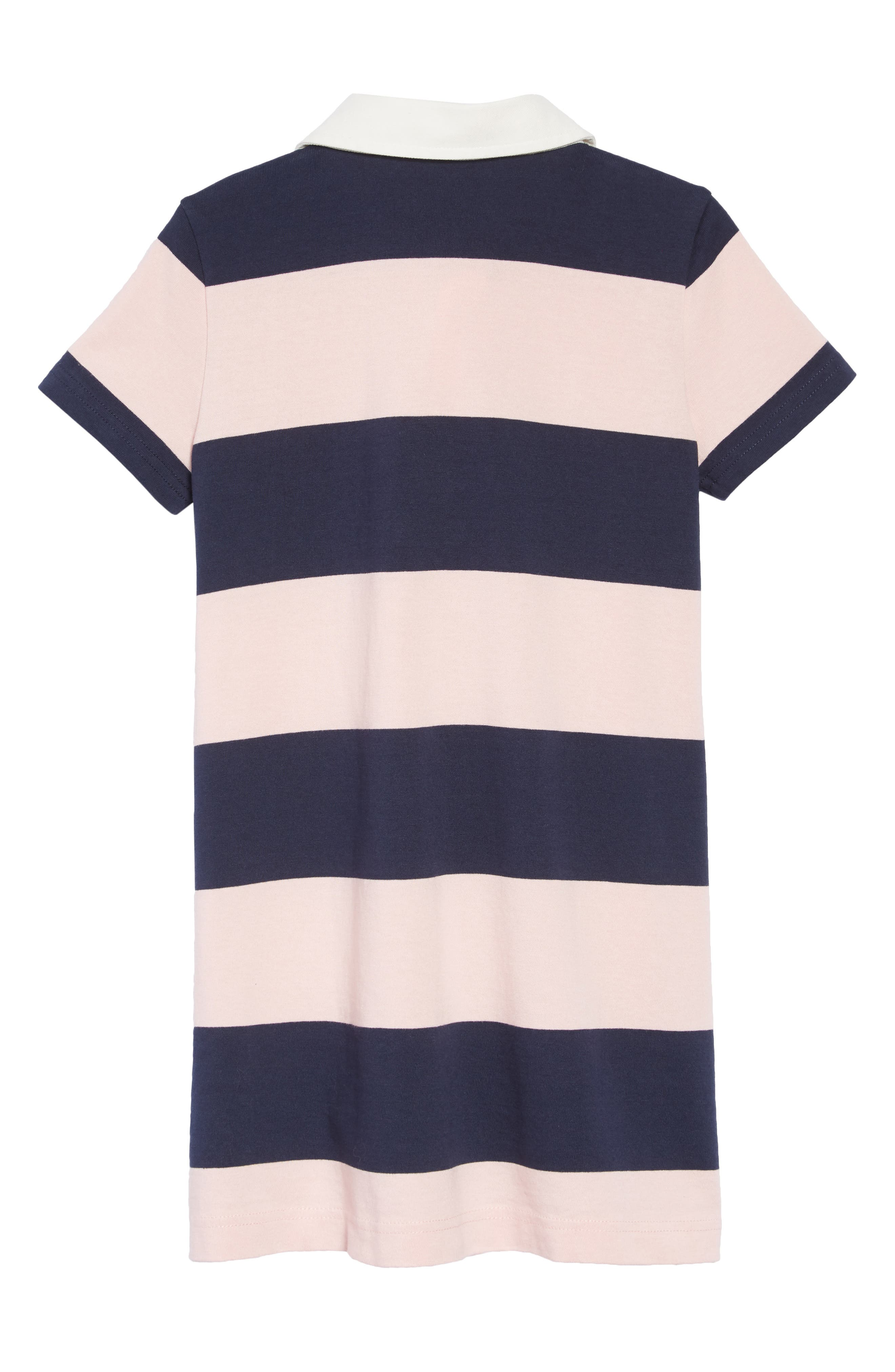 Short Sleeve Rugby Shirtdress,                             Alternate thumbnail 2, color,                             NAVY QUARTZ MALIK STRIPE